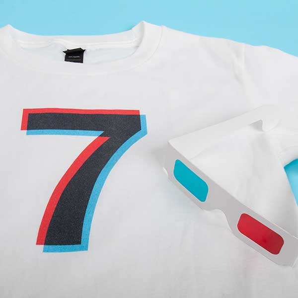 Birthday Number Shirts - Black or White T-Shirts with a 3D Graphic-Inspired Number to celebrate any birthday
