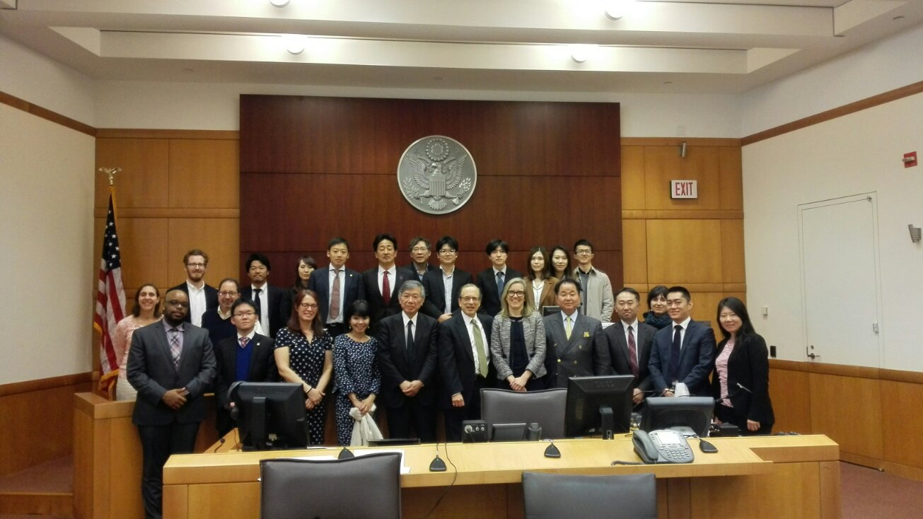 Photo: JFBA, USALI Staff and Scholars with Judge Steven Gold, and representatives of the legal community Robert Long, Jan Rostal and Justine Harris, Washington Square, New York