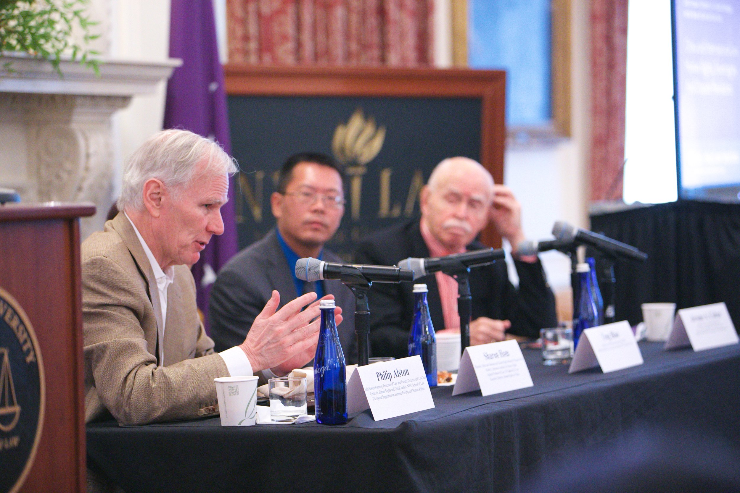 Professor Philip Alston, Lawyer Teng Biao and Professor Jerome A. Cohen