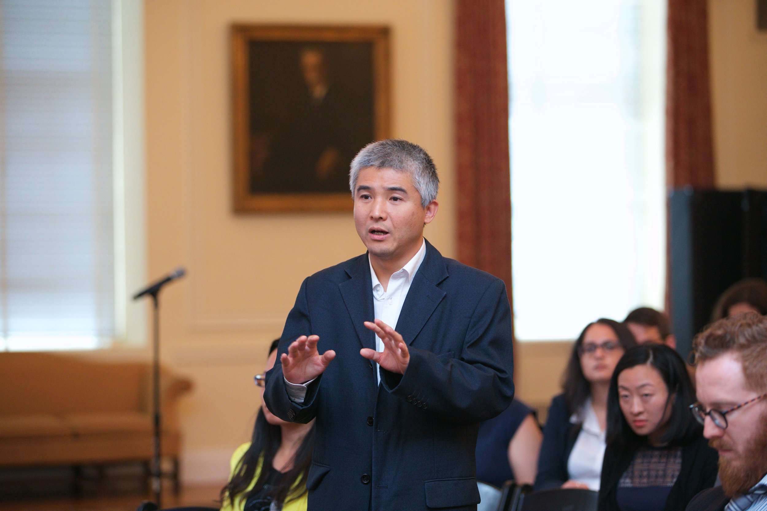 Former USALI Visiting Scholar Lu Jun during Q&A