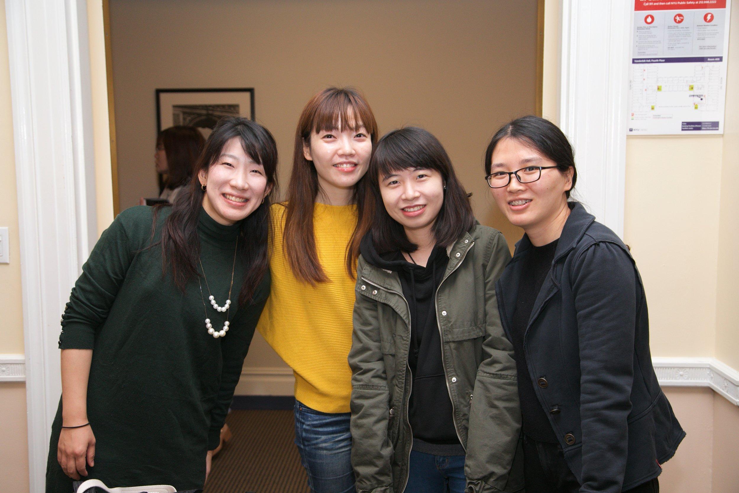 USALI Visiting Scholars: Ryangok Ku, Yihsien Wu, Yan Dongni, and Yizhi Huang