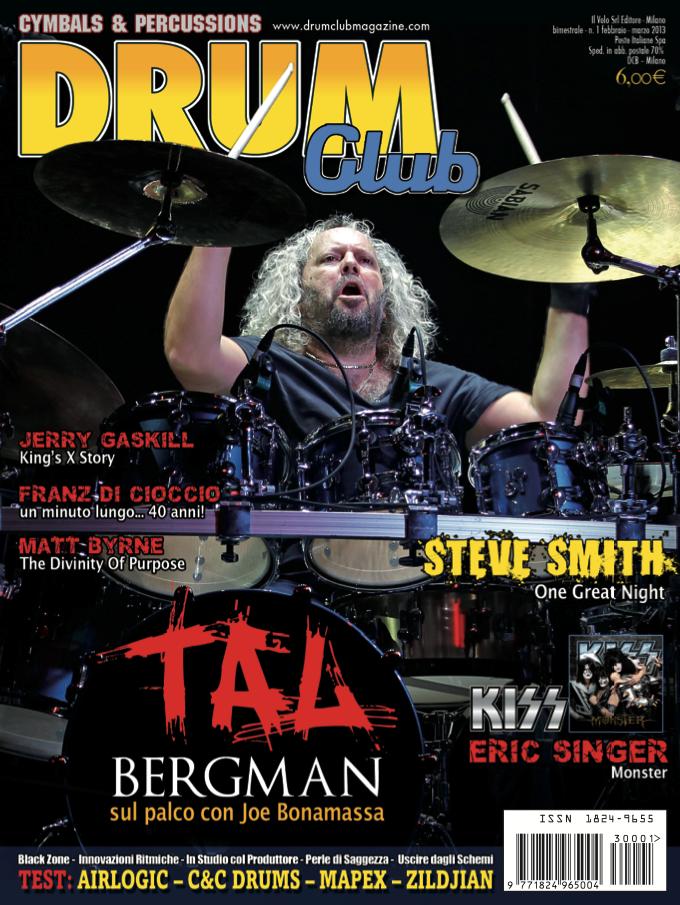 Drum Club cover feb 2013 Tal Bergman