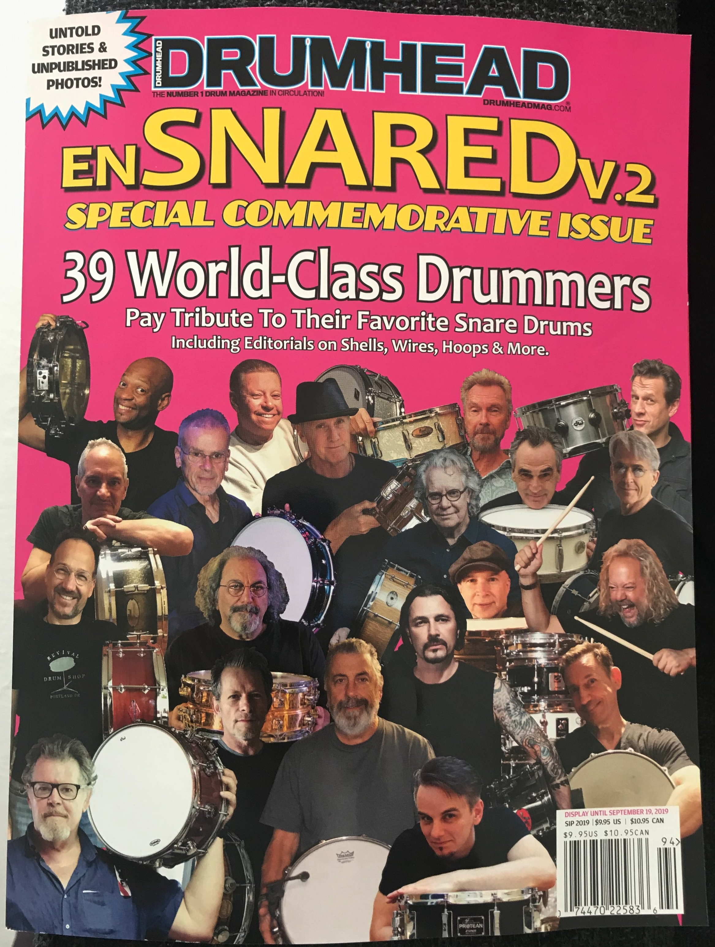 DRUMHEAD MAGAZINE ENSNARED VOL 2 COVER 2019