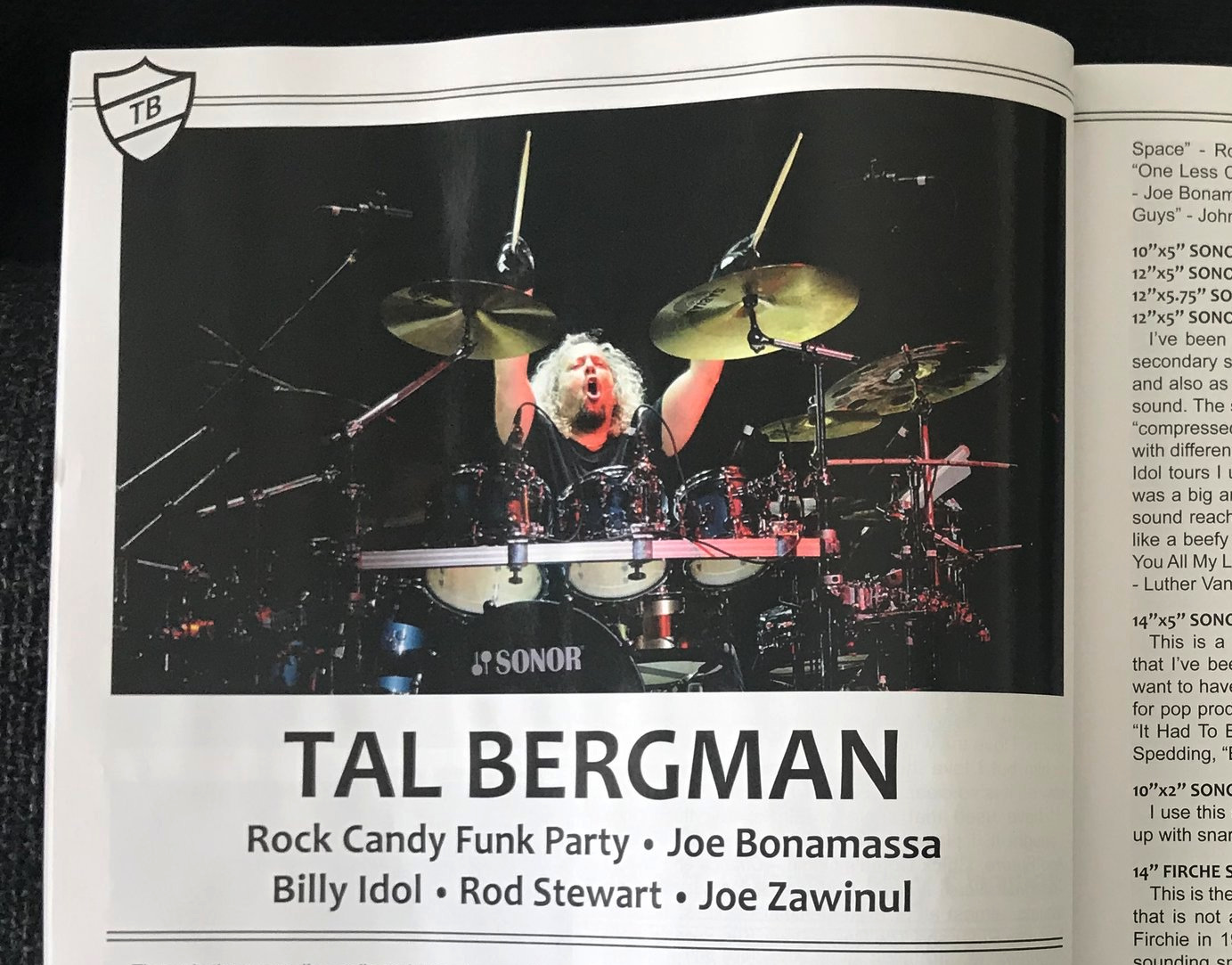 DRUMHEAD MAGAZINE ENSNARED VOL.2 TAL BERGMAN 2019  Click on Picture for full article