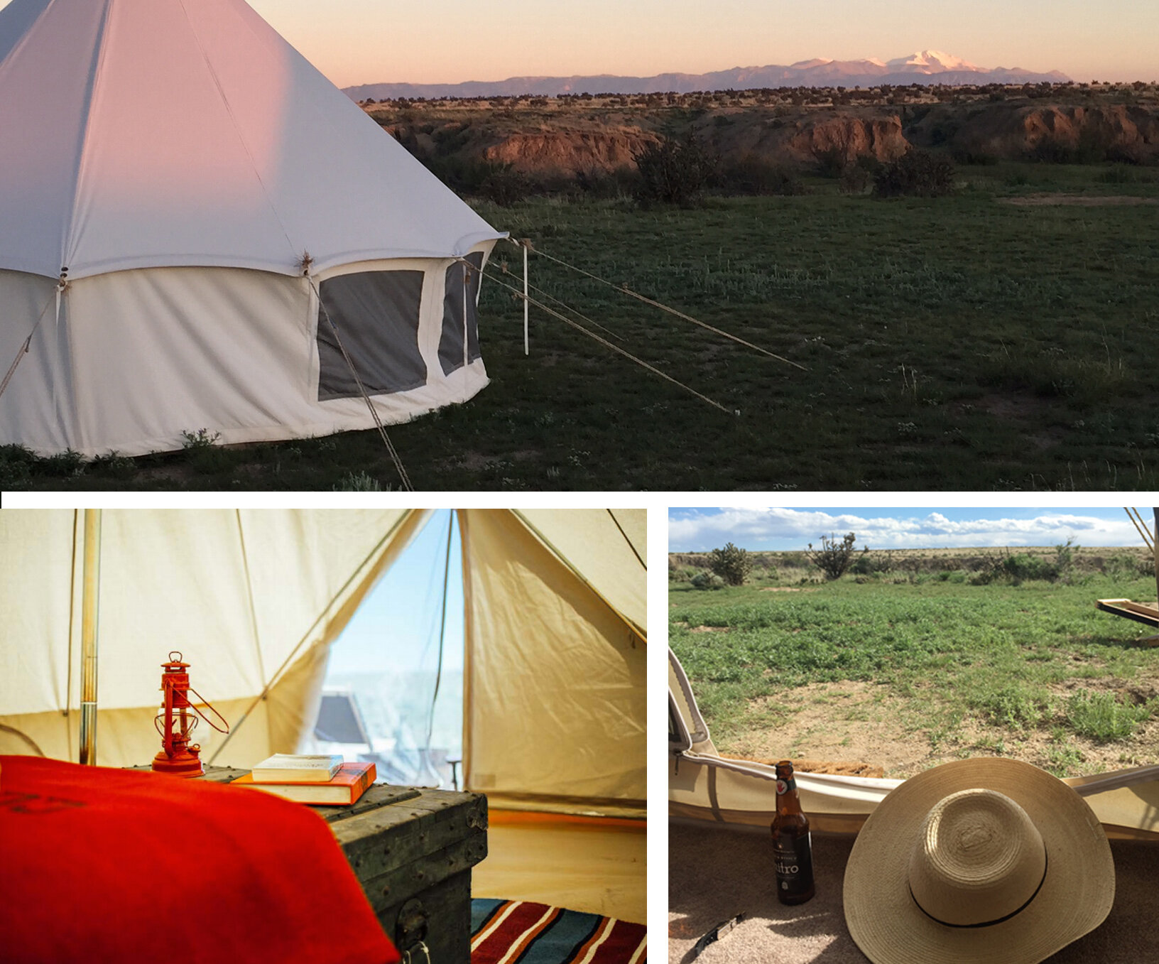 After a full day of learning and painting, enjoy an outdoor hot shower and relax in camp before supper is called. There is no better way to connect with your surroundings than to sleep under the stars and retire to your comfortable Denver Tent Company tent, tastefully furnished by Filson.