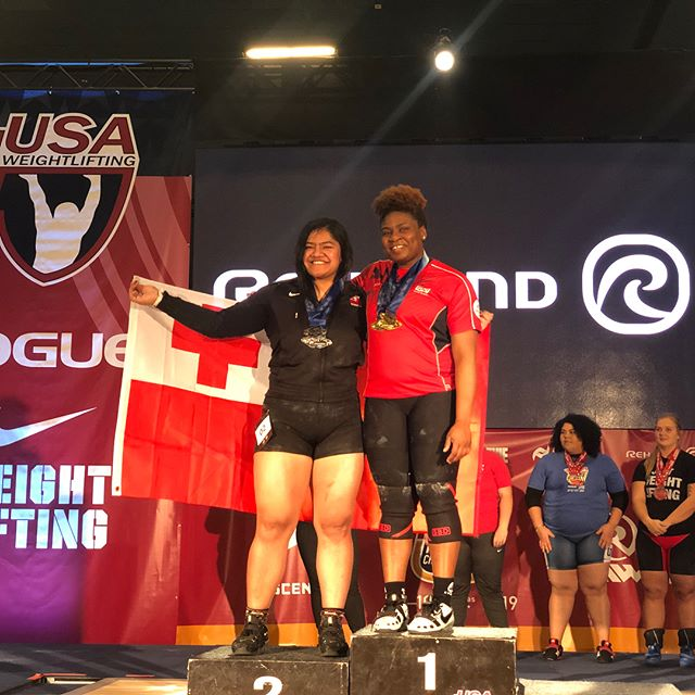 #teamtonga @nyny.manumua wins silver!!! Big thanks to @jenny.arthur @benhwasome for all their help! Getting ready for Tokyo!