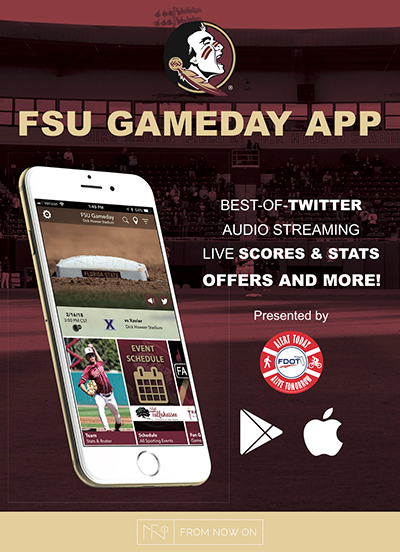 Florida State University displays this poster on campus to promote the app. Placing this in bookstores and campus dining areas will attract donwloads!