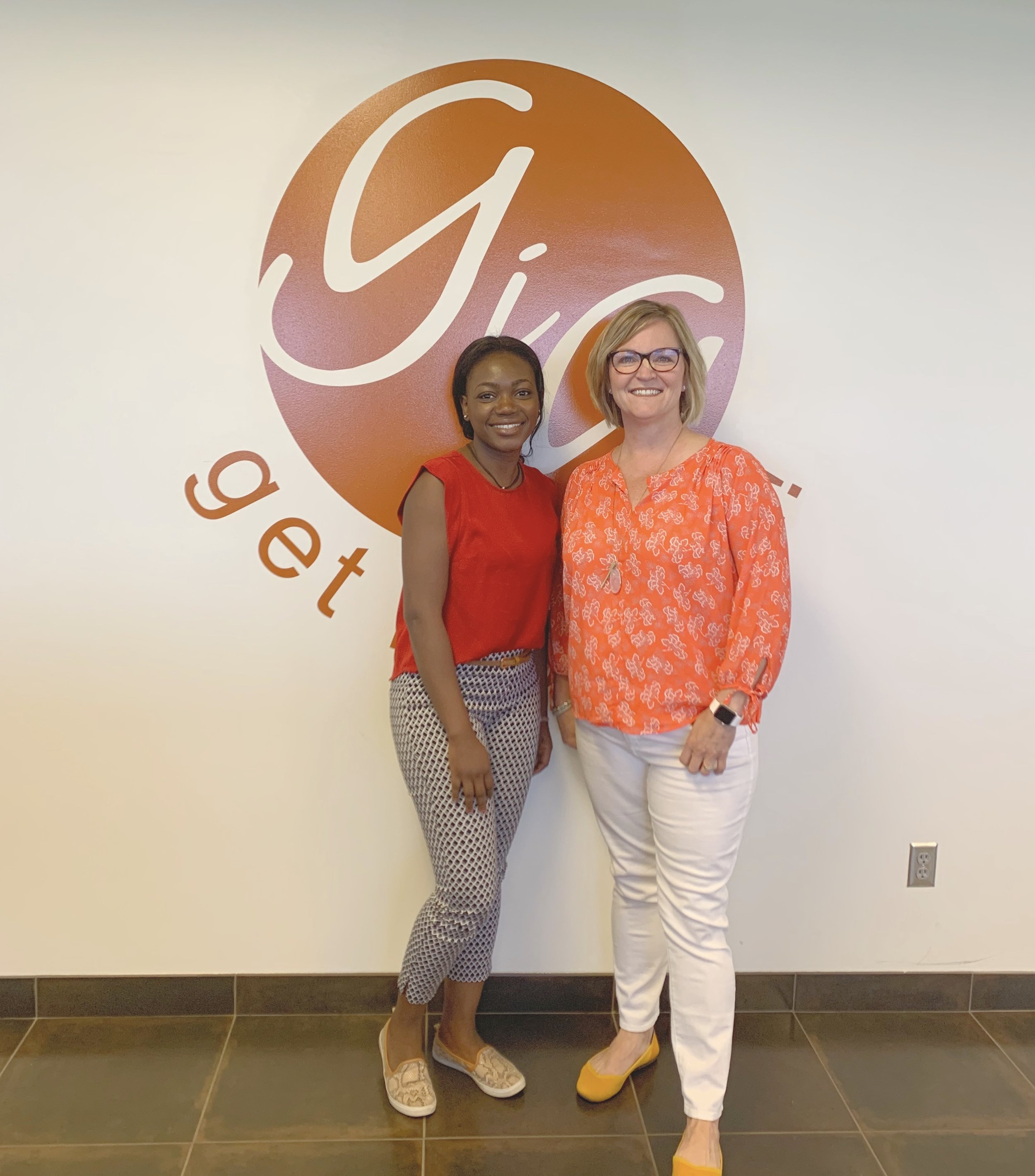Sue Thaden with Julie Don, CRi Technical Staffing intern and a 2018 - 2019 CodeCrush participant.
