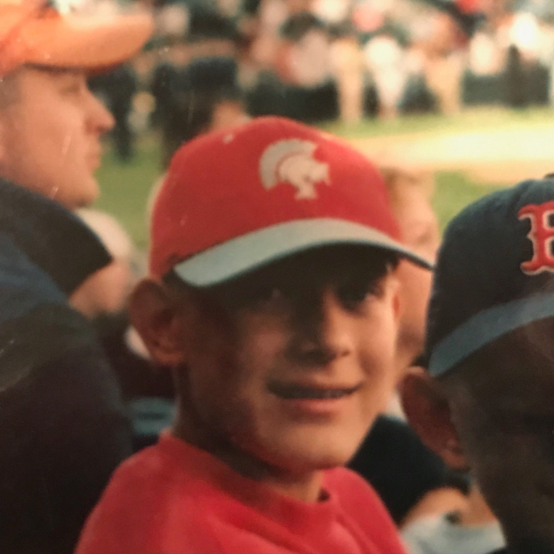 Yours truly, circa the early '00s at the College World Series.