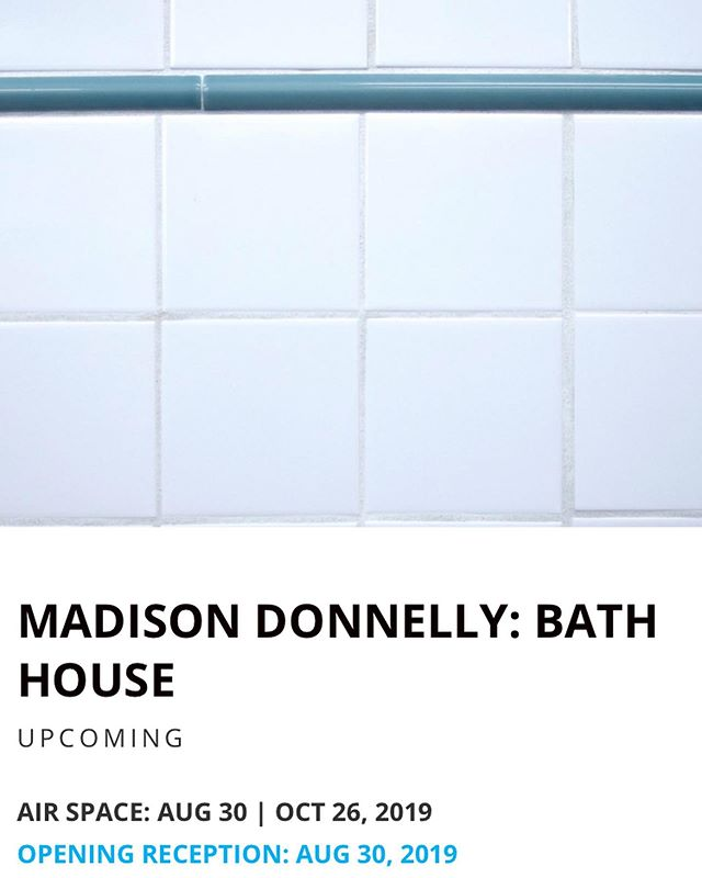 """My residency at UMOCA is coming to an end and culminates with my exhibition """"Bath House"""" opening Aug 30.  A short statement can be found below based off of @james.d.payne's wonderful write up (swipe to read). Cannot thank @andrew.alba enough for his help with this project and teaching me to tile like a professional! His show """"Gas Station Honeydew"""" is up in the same space until Aug 24. . . . Madison Donnelly's Bath House combines a hot tub and a conversation pit, merging exterior and interior, to produce an object that is at once eerie and comforting. This object becomes a surrealist and elegiac monument to a nostalgic form of leisure and sociality, making the familiar feel strange. This artistic practice can be traced back to Surrealist Méret Oppenheim, whose fur-lined teacup creates a similar uncanny feeling of disruption.  The conversation pit is a mid-century domestic feature built into the floor of a living room that allowed for a large group of people to sit facing one another. Donnelly suggests that the faddish popularity of the conversation pit and its insistence on the communal in an era when US social relations had become mediated by television is, in retrospect, a contradiction. The recent revival of the conversation pit seems similarly fitting for the Internet-age. Additionally, the title Bath House makes reference to gay cruising culture of the 1970's, that included bathhouses as a now dated means of connection."""