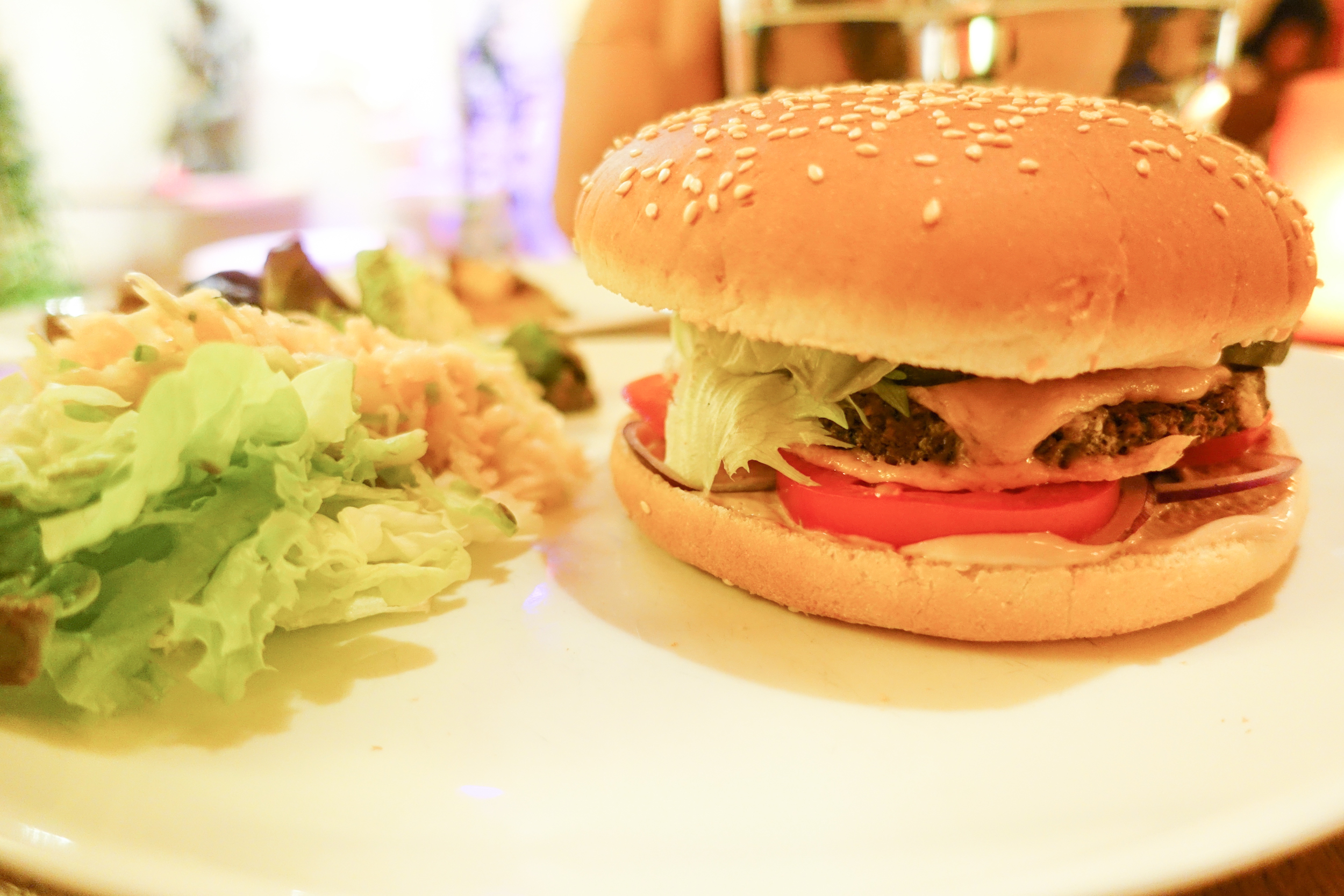 Vegan burger in Prague