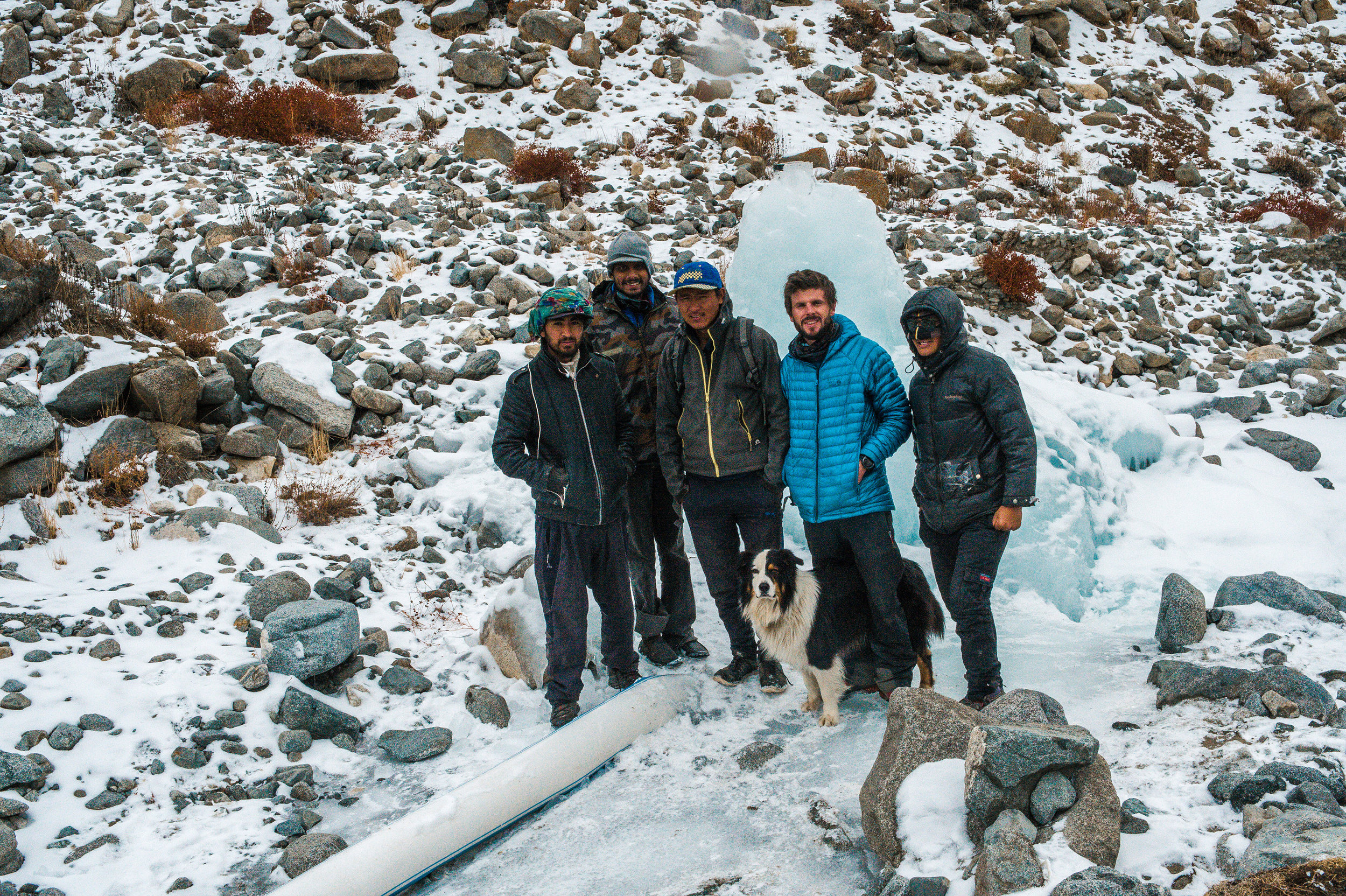 Ice Stupa team and Slow Motion Projects volunteers
