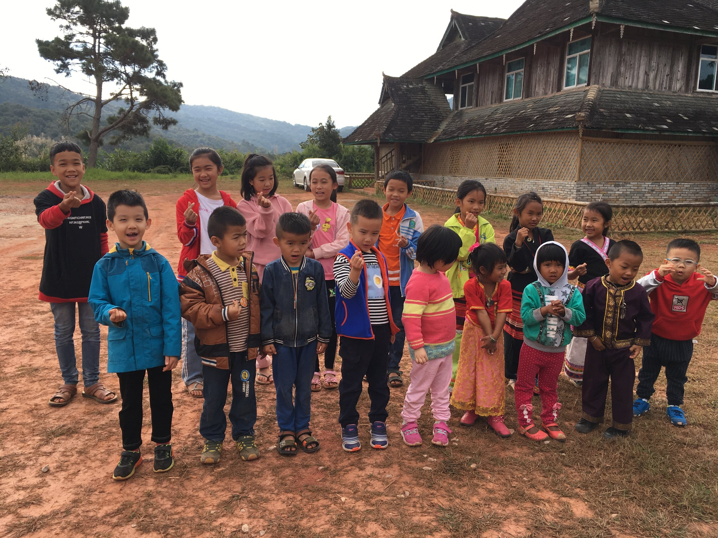 d-3 The village children visited the museum with children from hebei province.JPG