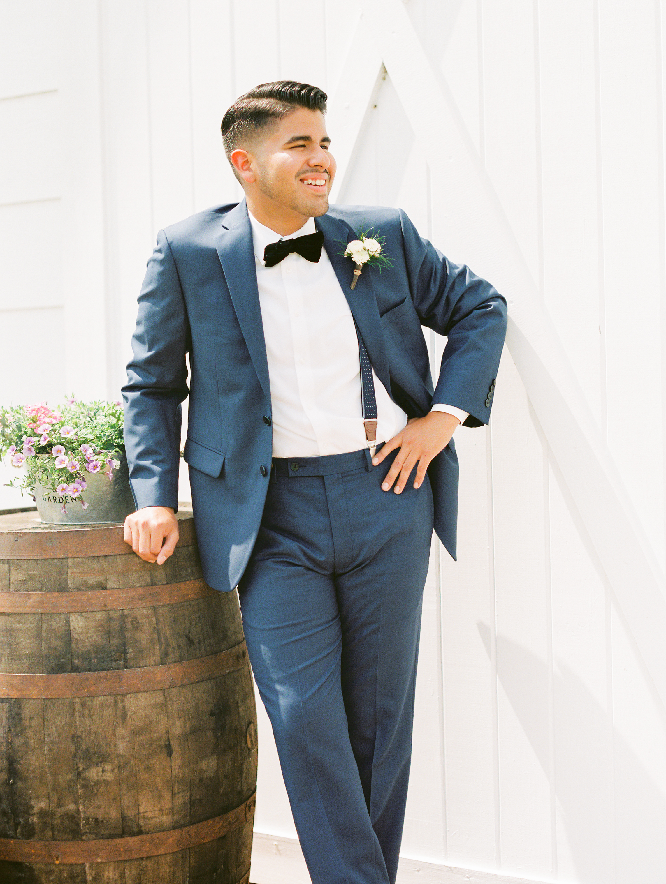 Sterling stables, brevard county FL wedding groom photo