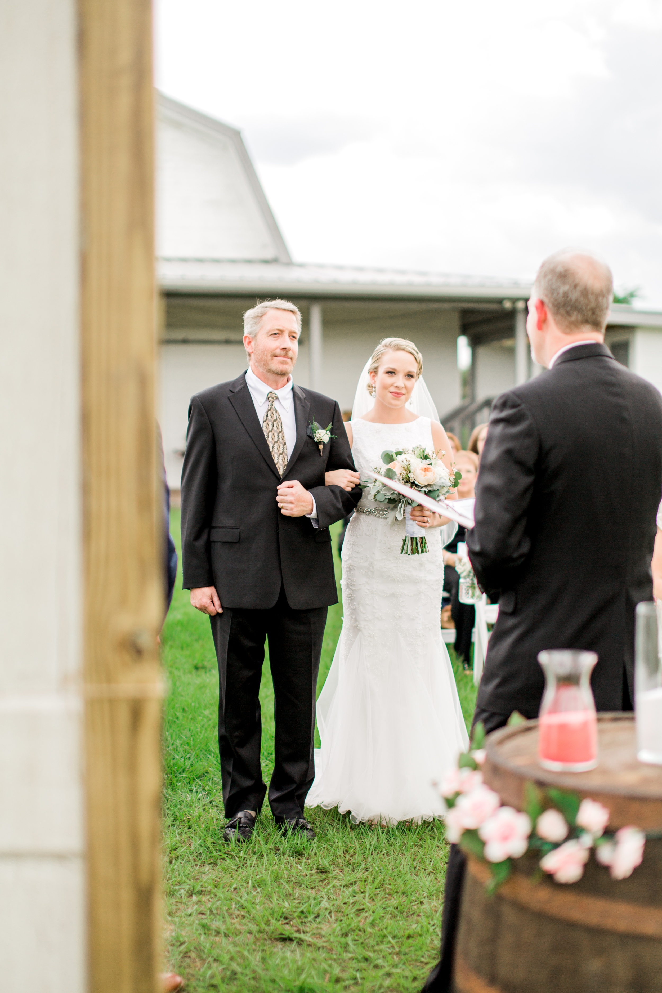 Sterling stables, brevard county FL wedding bride and groom ceremony photo