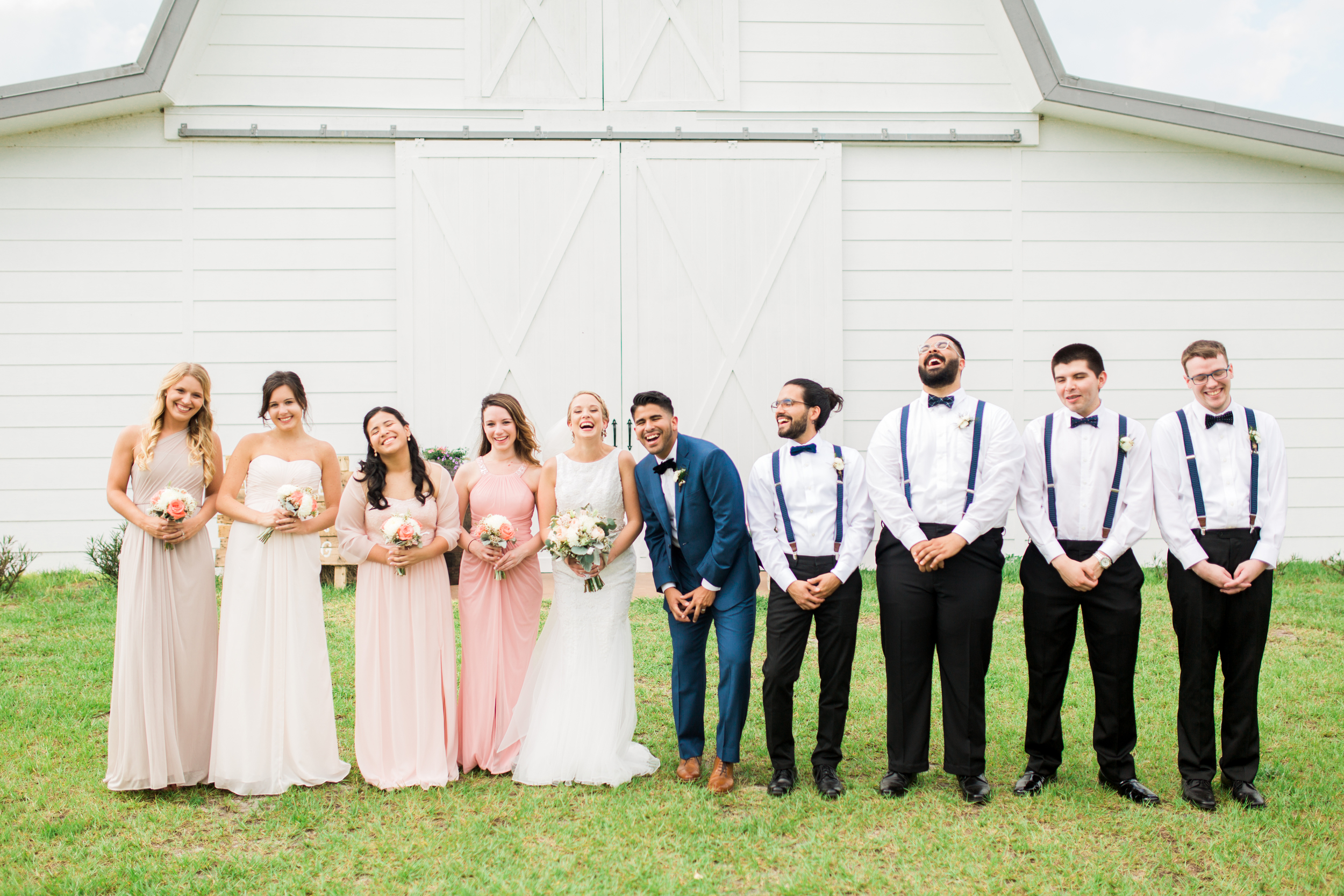 Sterling stables, brevard county FL wedding party photo
