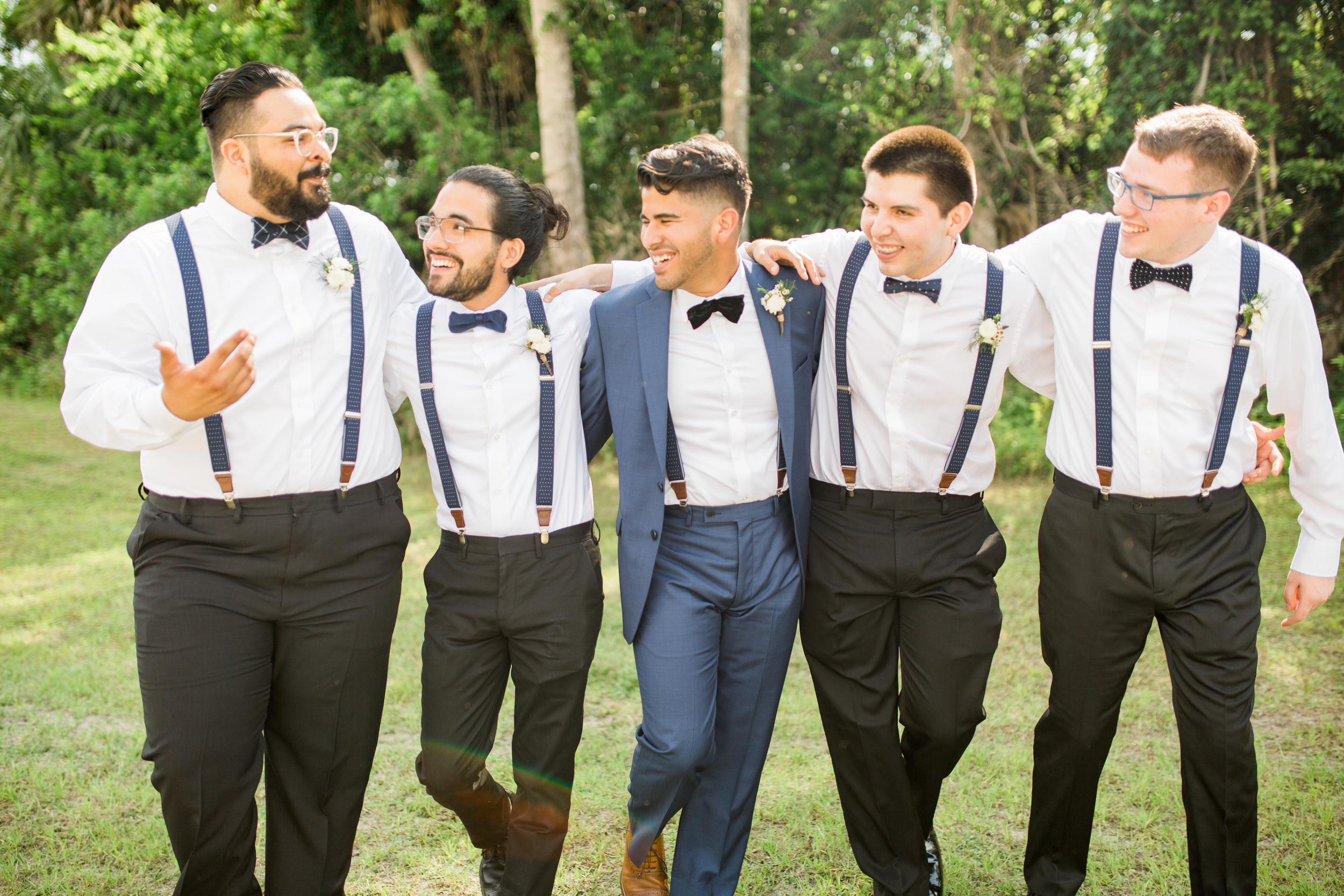 Sterling stables, brevard county FL wedding groomsmen, bridal party photo