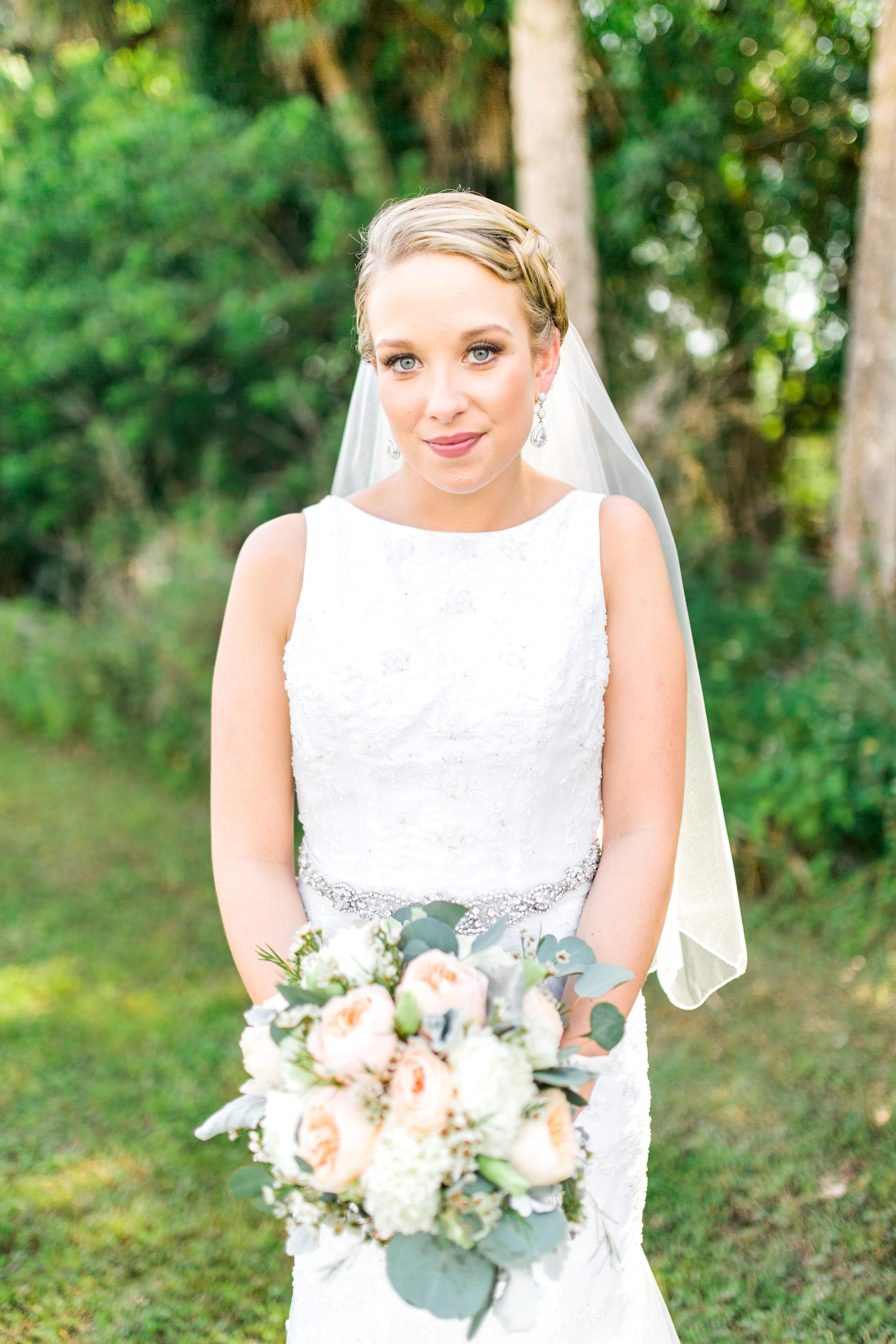 Sterling stables, brevard county FL wedding bride  photo