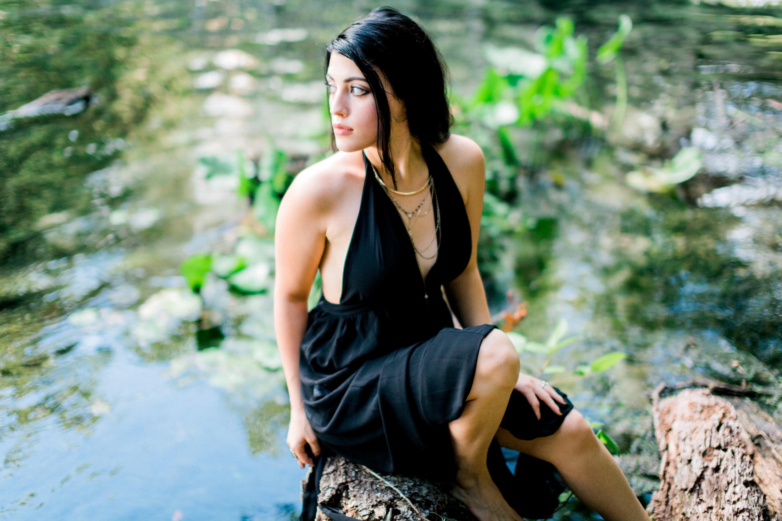 wekiva springs orlando florida model in dress photograph