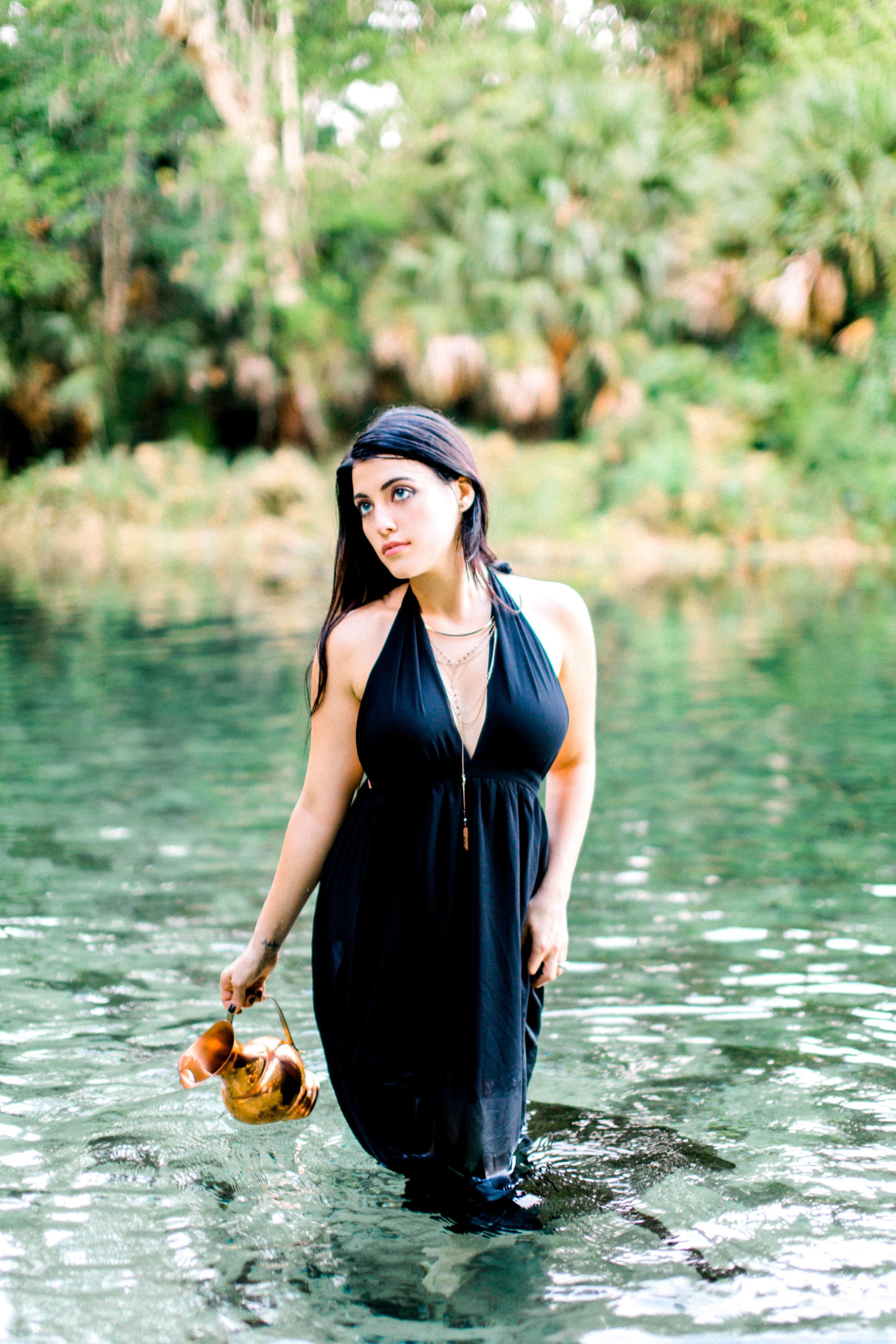 wekiva springs orlando florida model in dress photo