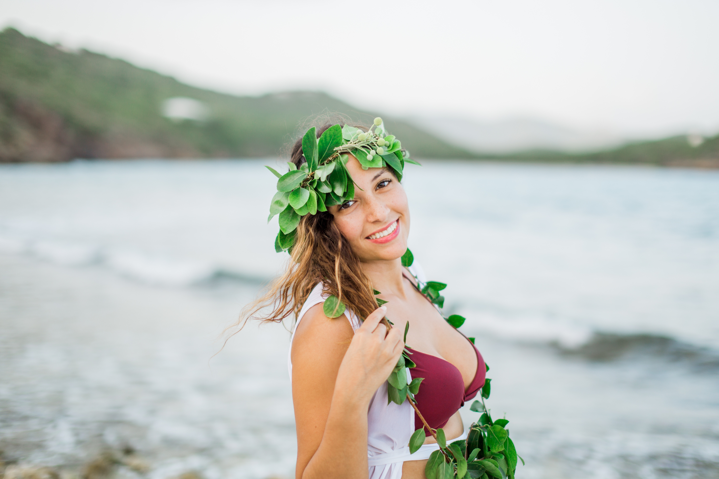 usvi st. thomas, water island tropical beach engagement photography