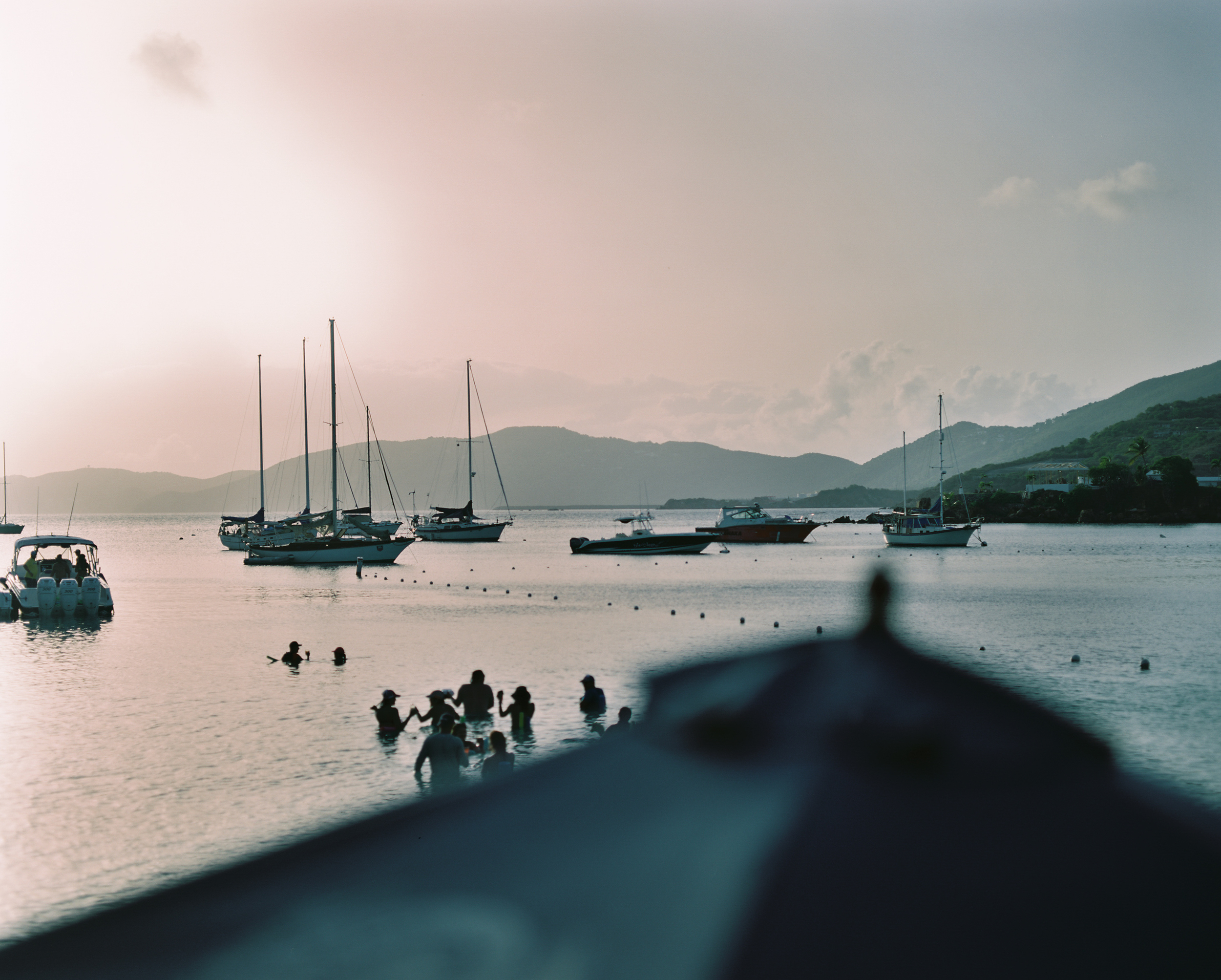 St. Thomas, water island sunset, honeymoon beach, USVI traveling photographer