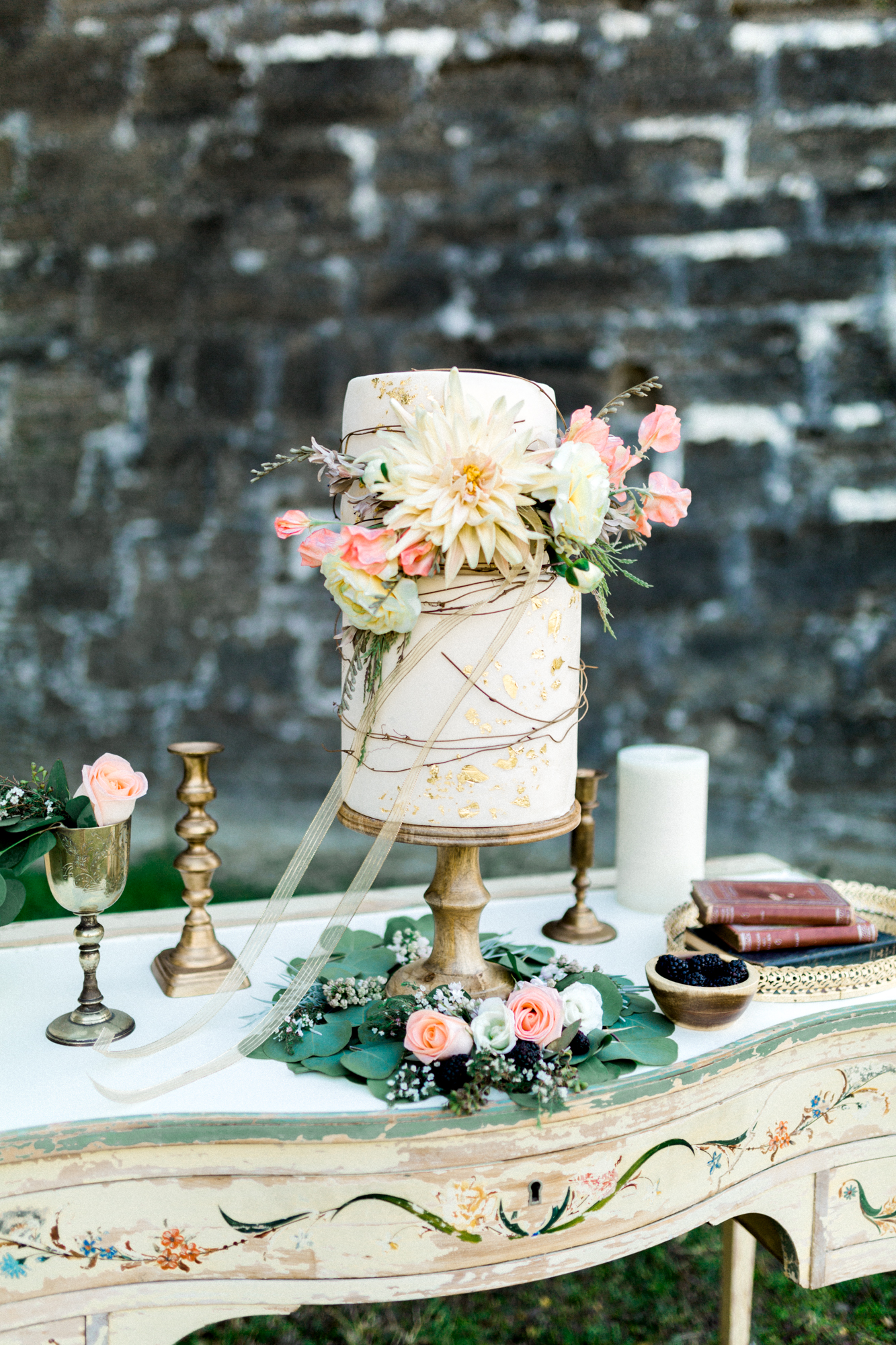 St. augustine, castillo de san marcos styled wedding bridal photo, wedding cake table