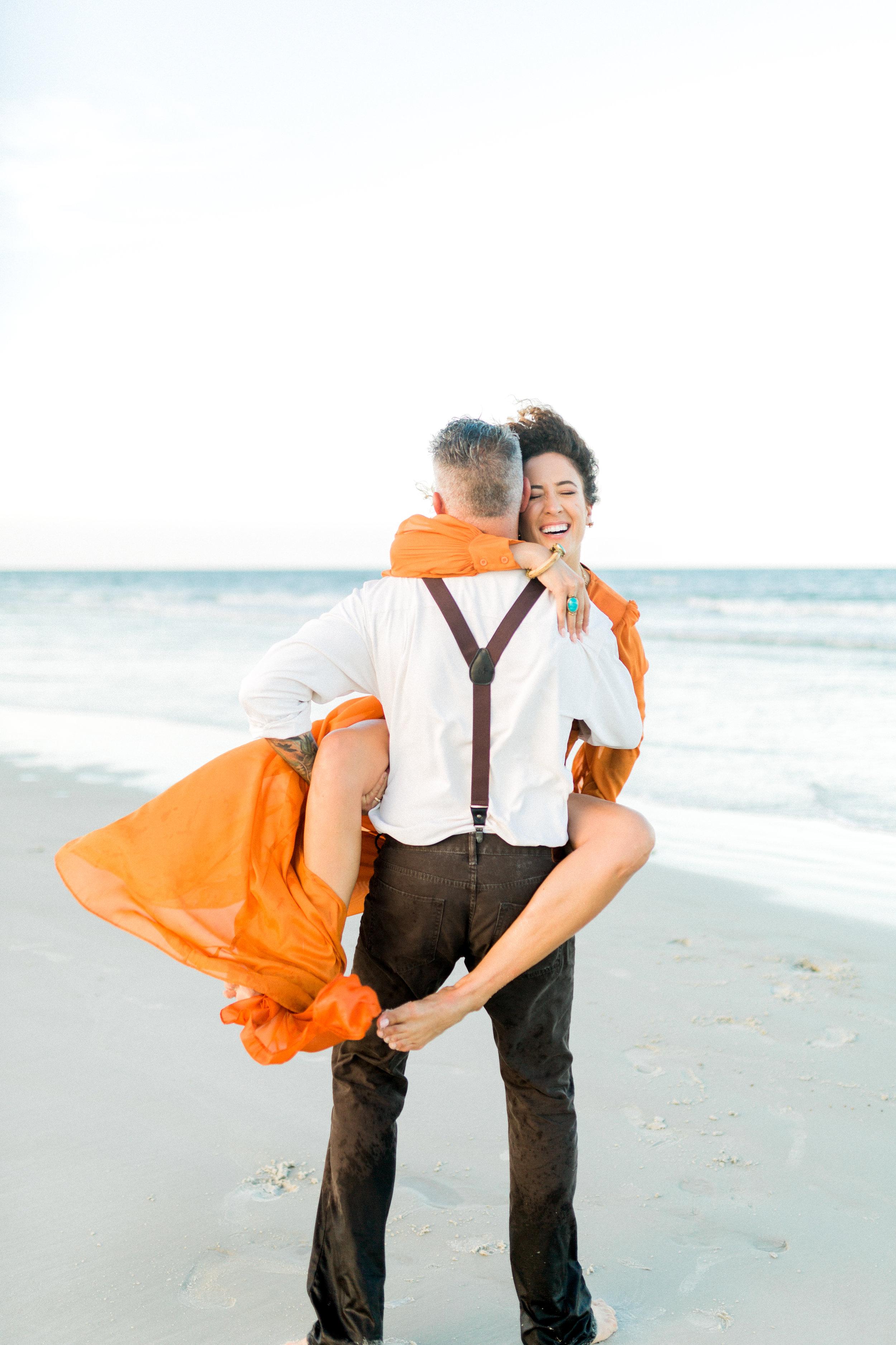 St. Augustine Beach A1A Anniversary Photos of stylish couple. fine art film photography
