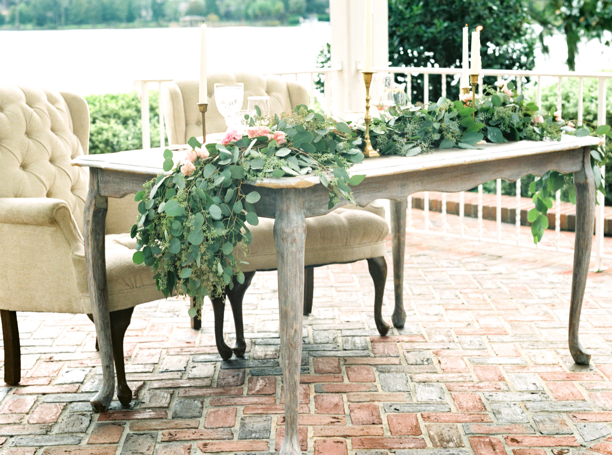 cypress grove estate house orlando florida wedding photos, sweetheart table scape