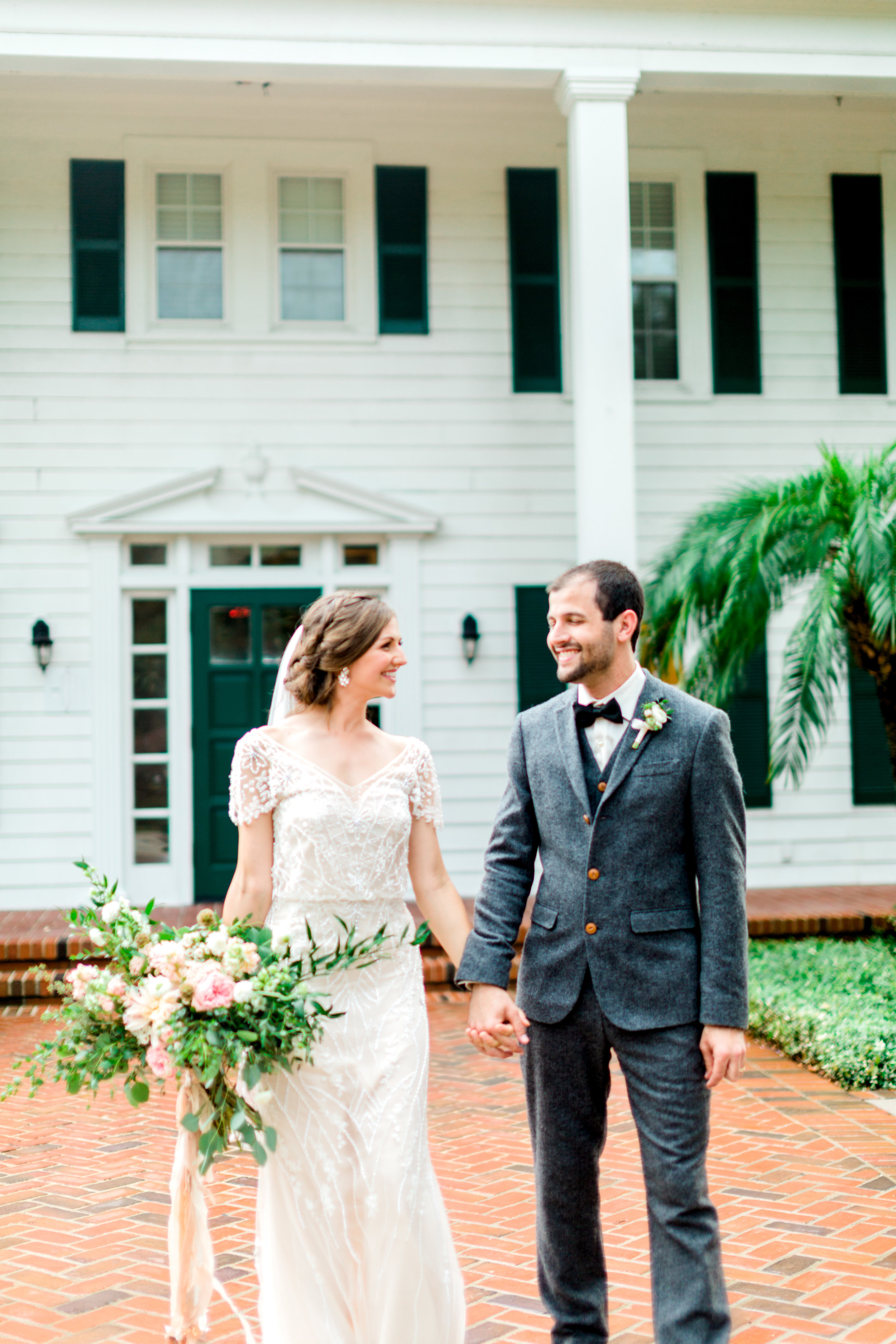 cypress grove estate house orlando florida wedding photos, bride and groom