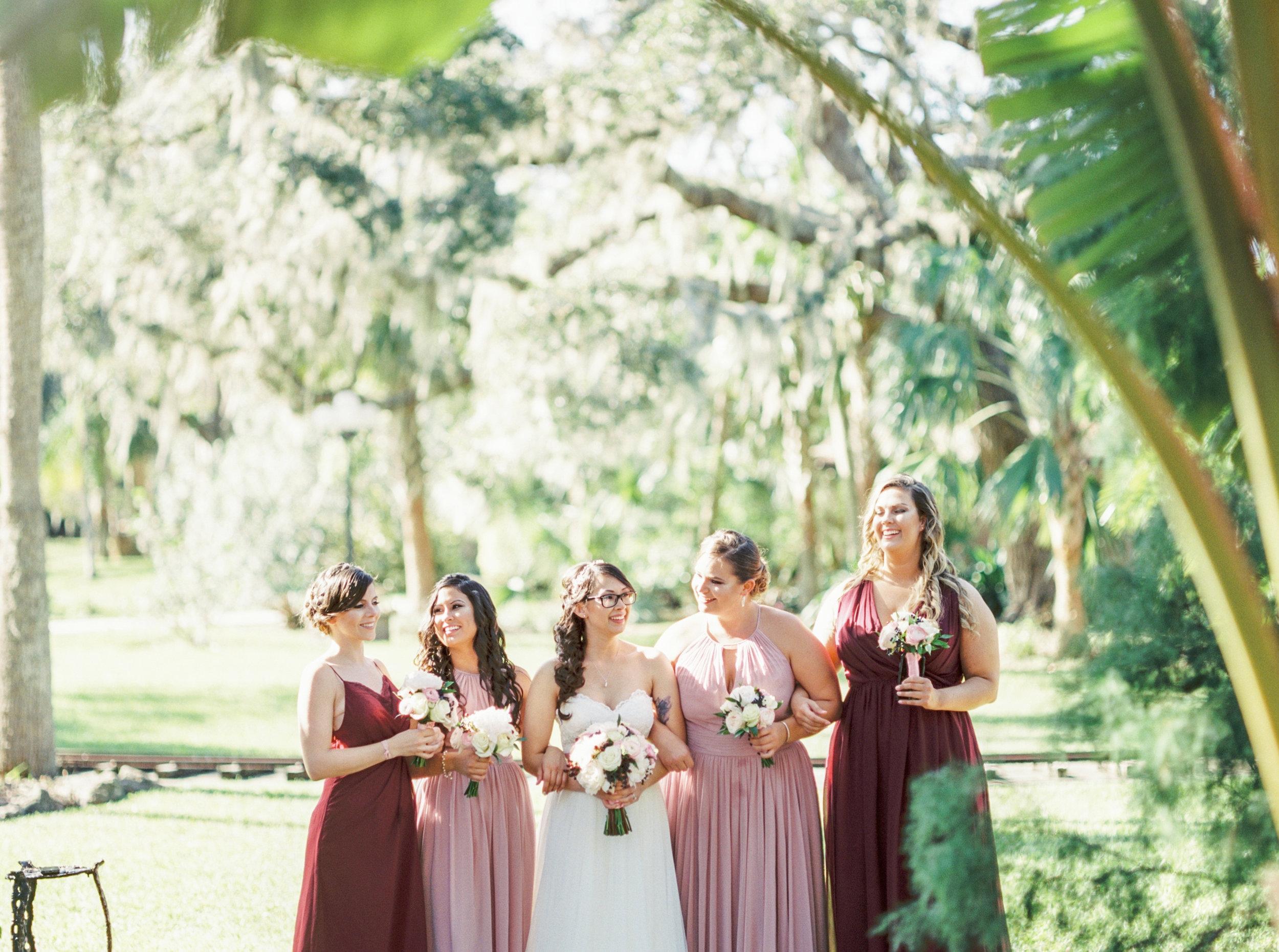 estate on the halifax in daytona beach, port orange fl wedding photos, bridesmaids