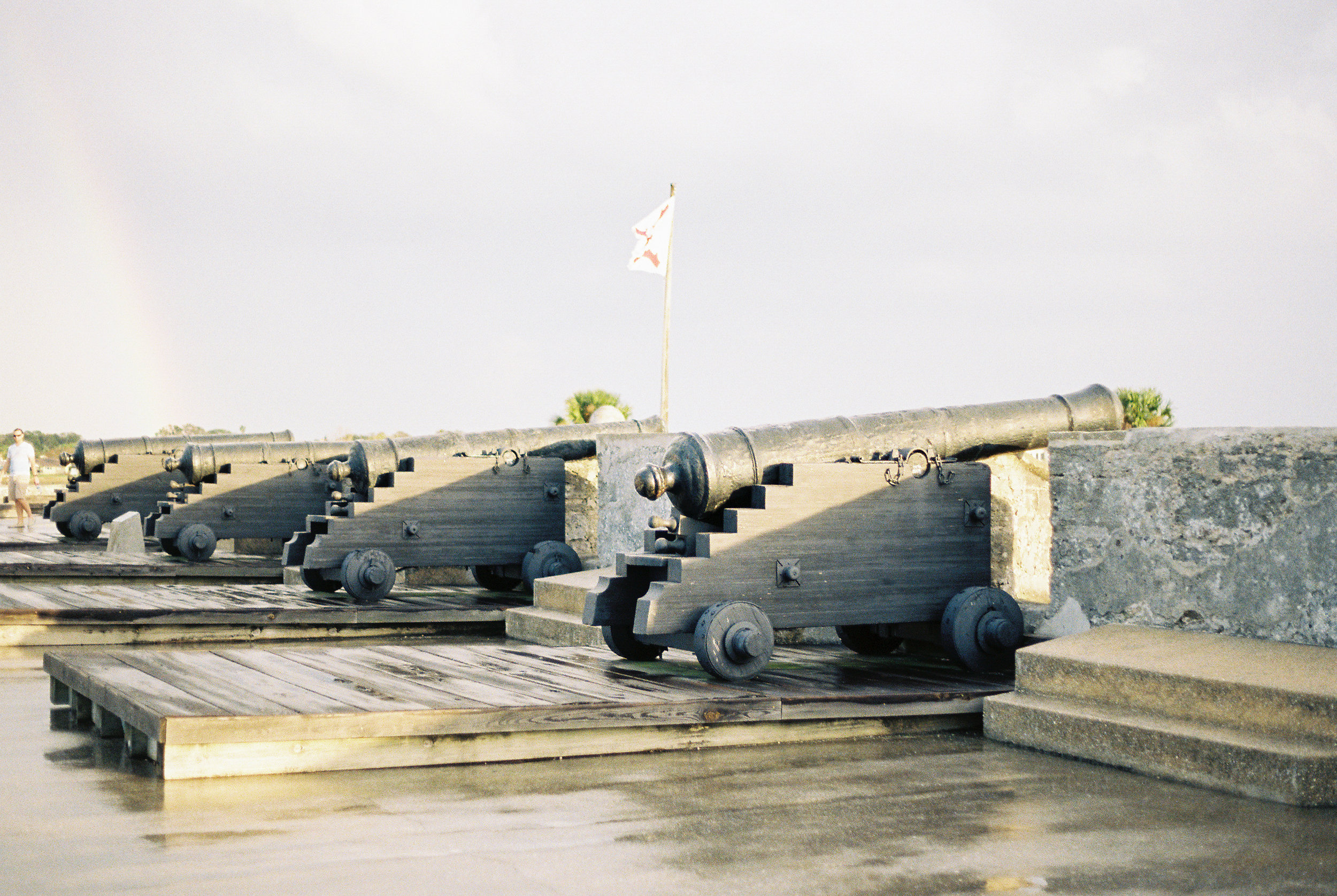 st augustine castillo de san marcos castle fort canons photo