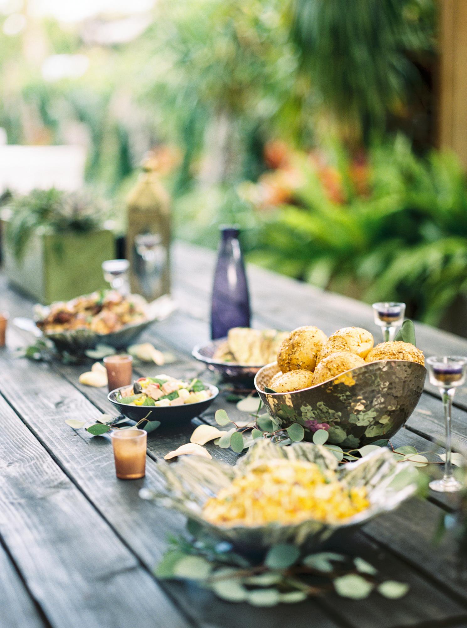 valkaria gardens palm bay FL reception table setting photos