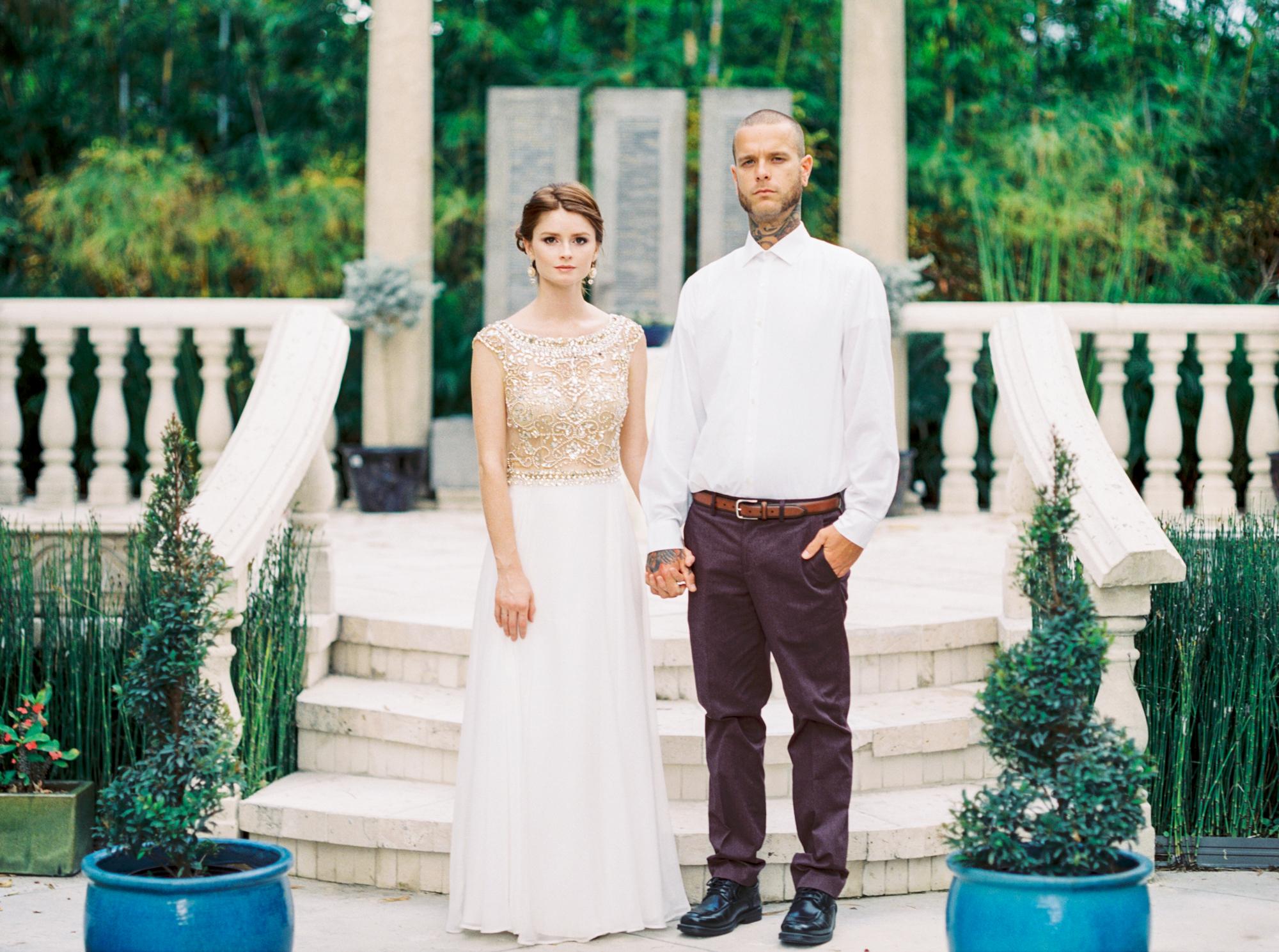 valkaria gardens palm bay FL bride and groom ceremony wedding photos