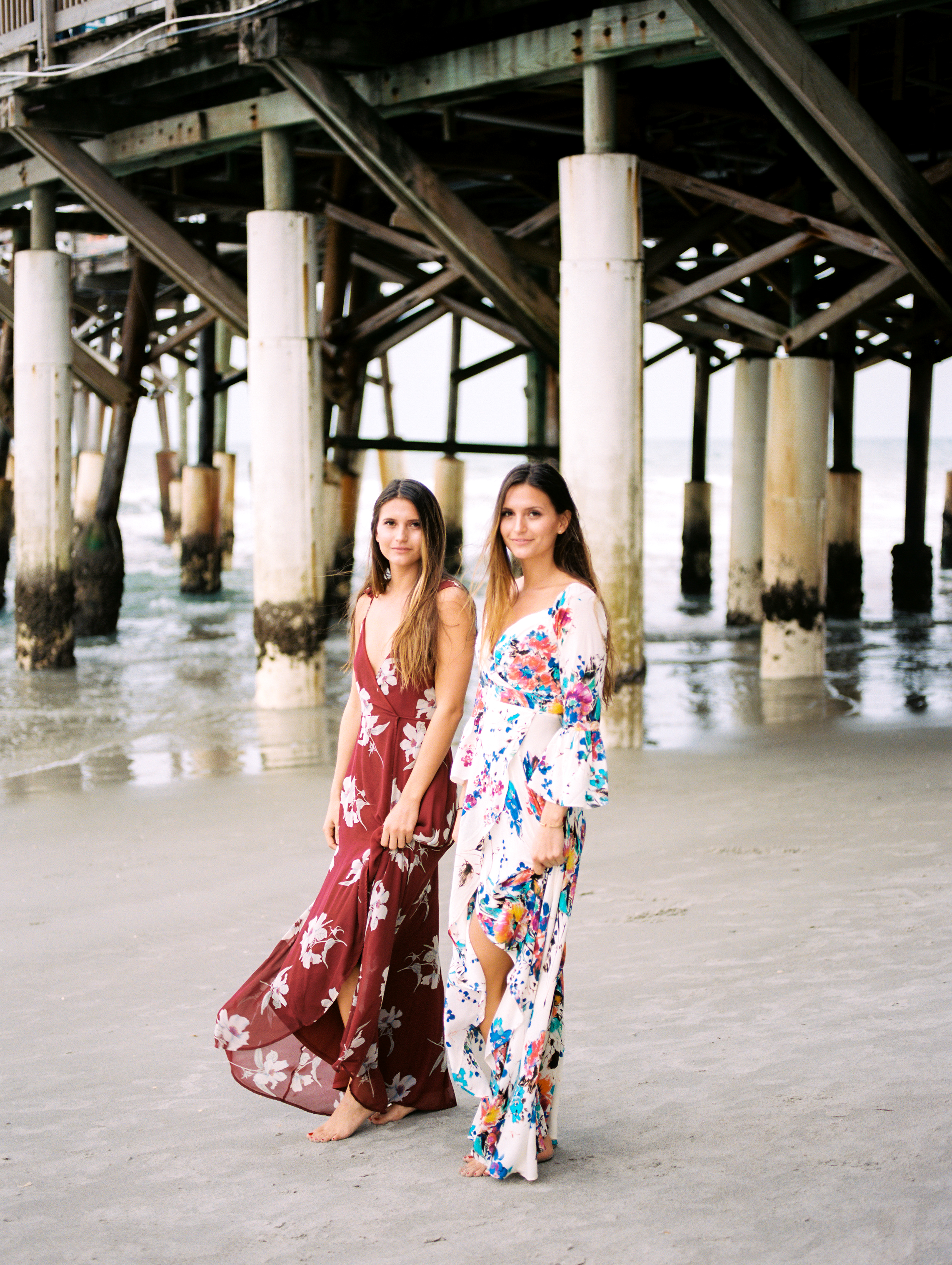 orlando cocoa beach pier and models in dress photography by jessica bellinger
