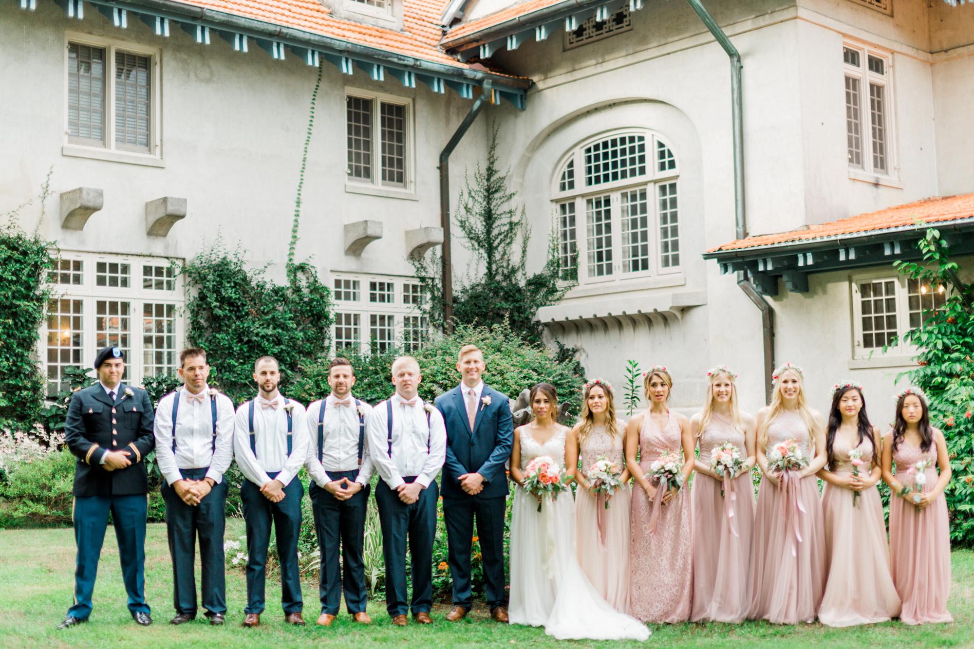 sydonie mansion mount dora orlando fl wedding photos bridal party