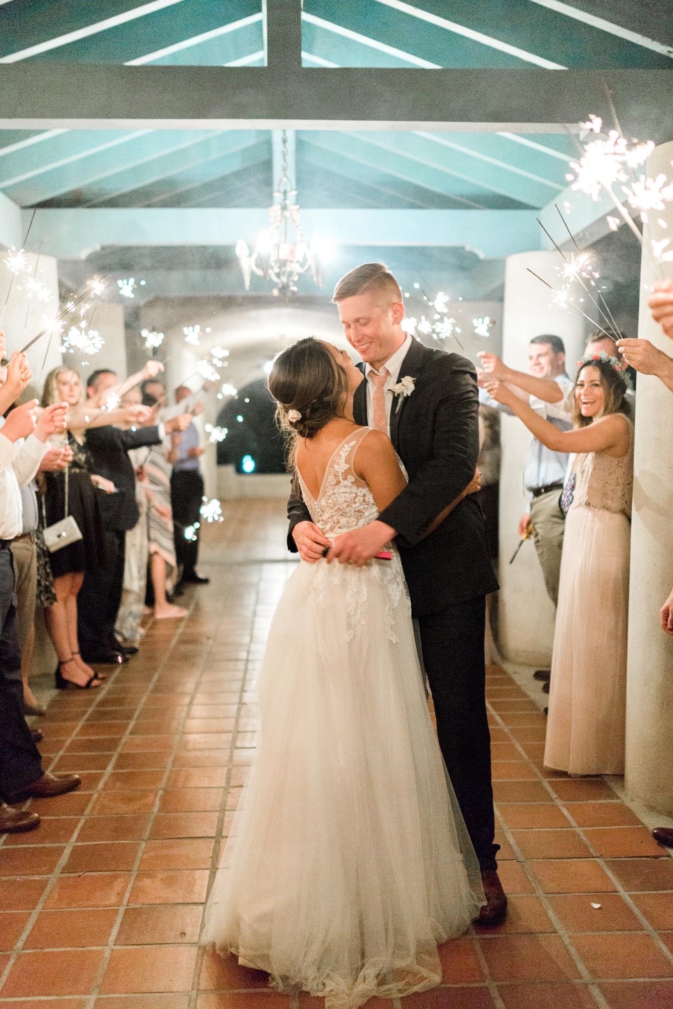 sydonie mansion mount dora orlando fl wedding photos sparkler exit
