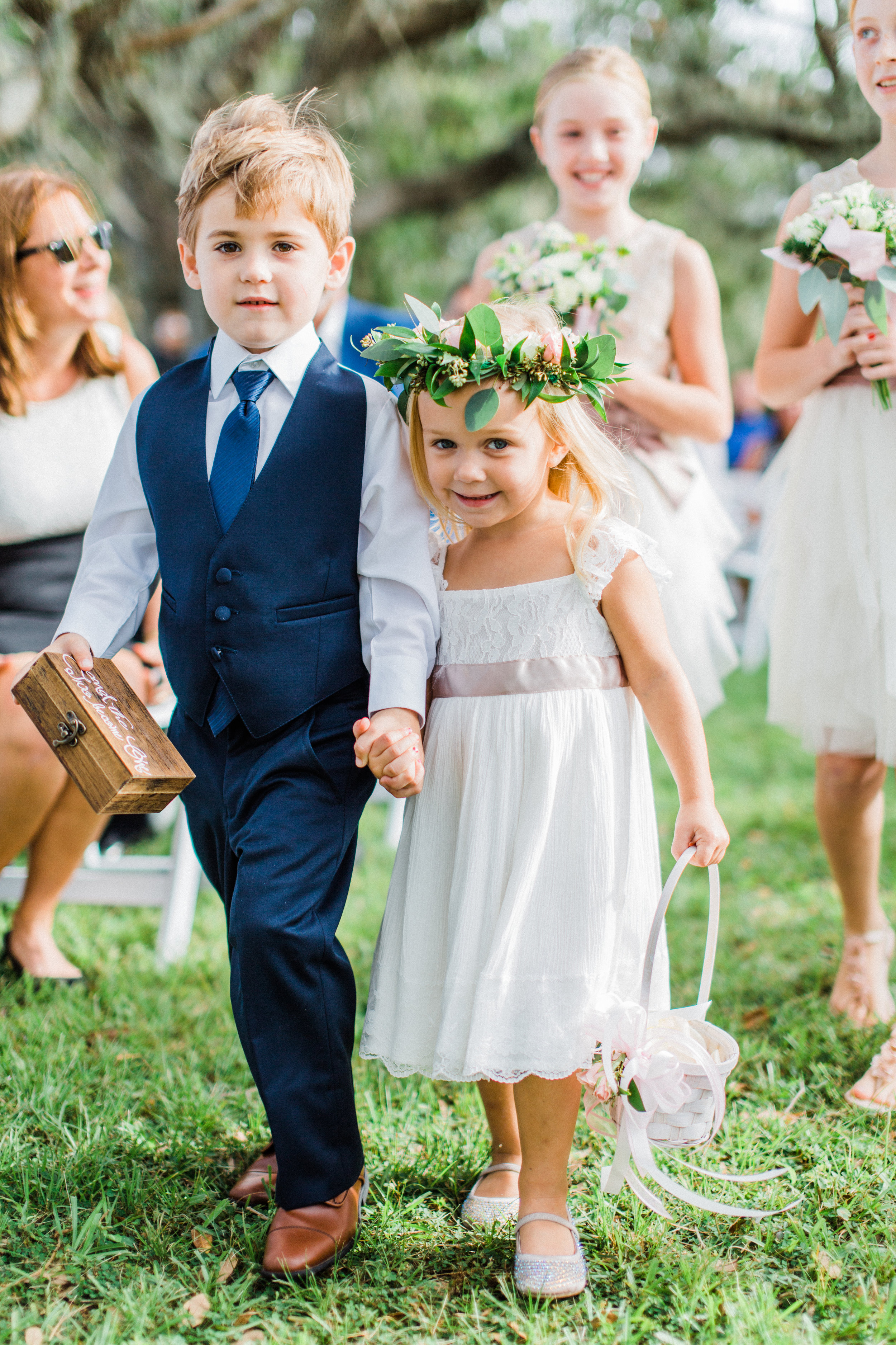 orlando florida wedding photography flower girl and ring bearer