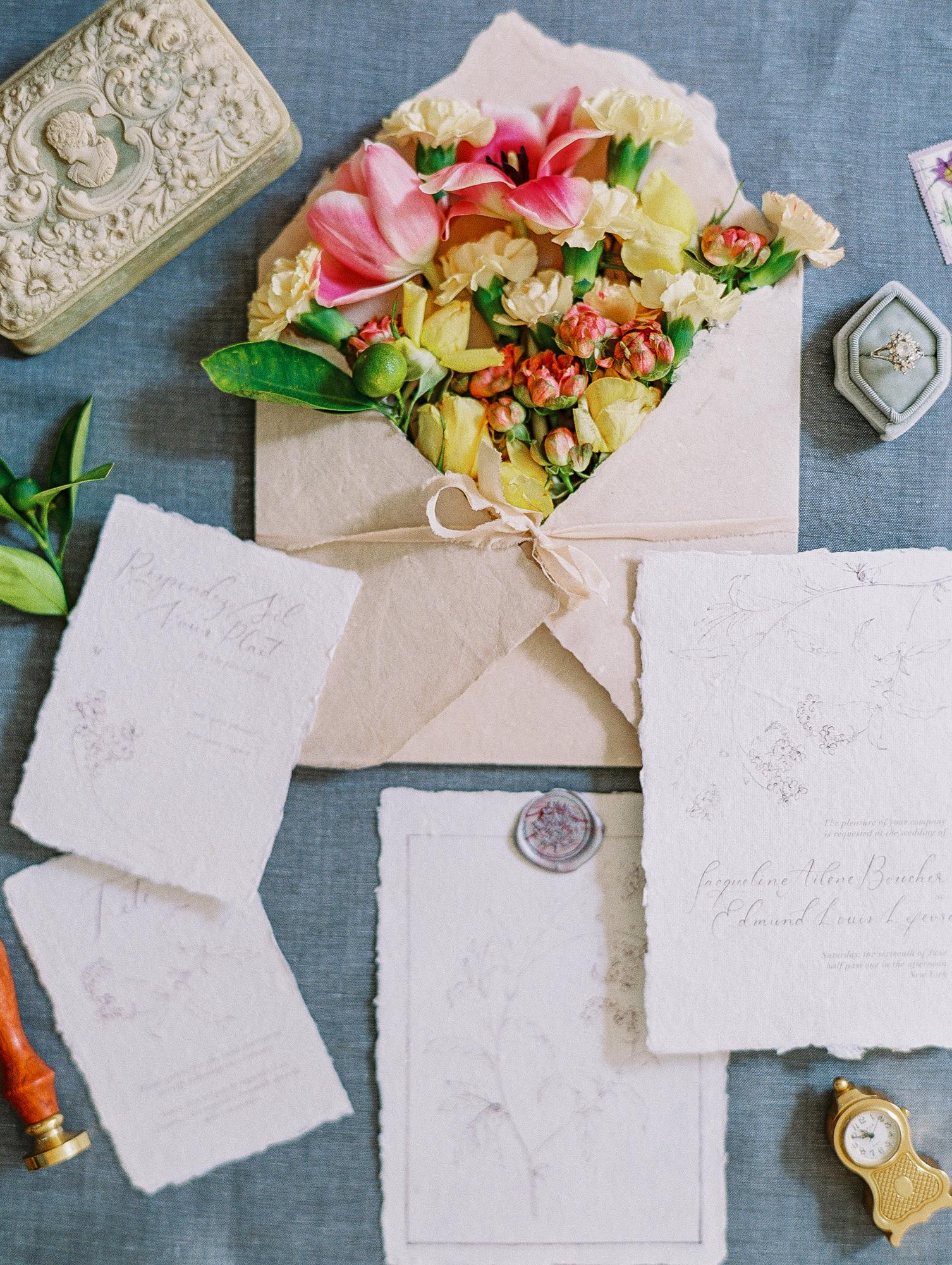 manhattan new york wedding invitation suite film fine art photos