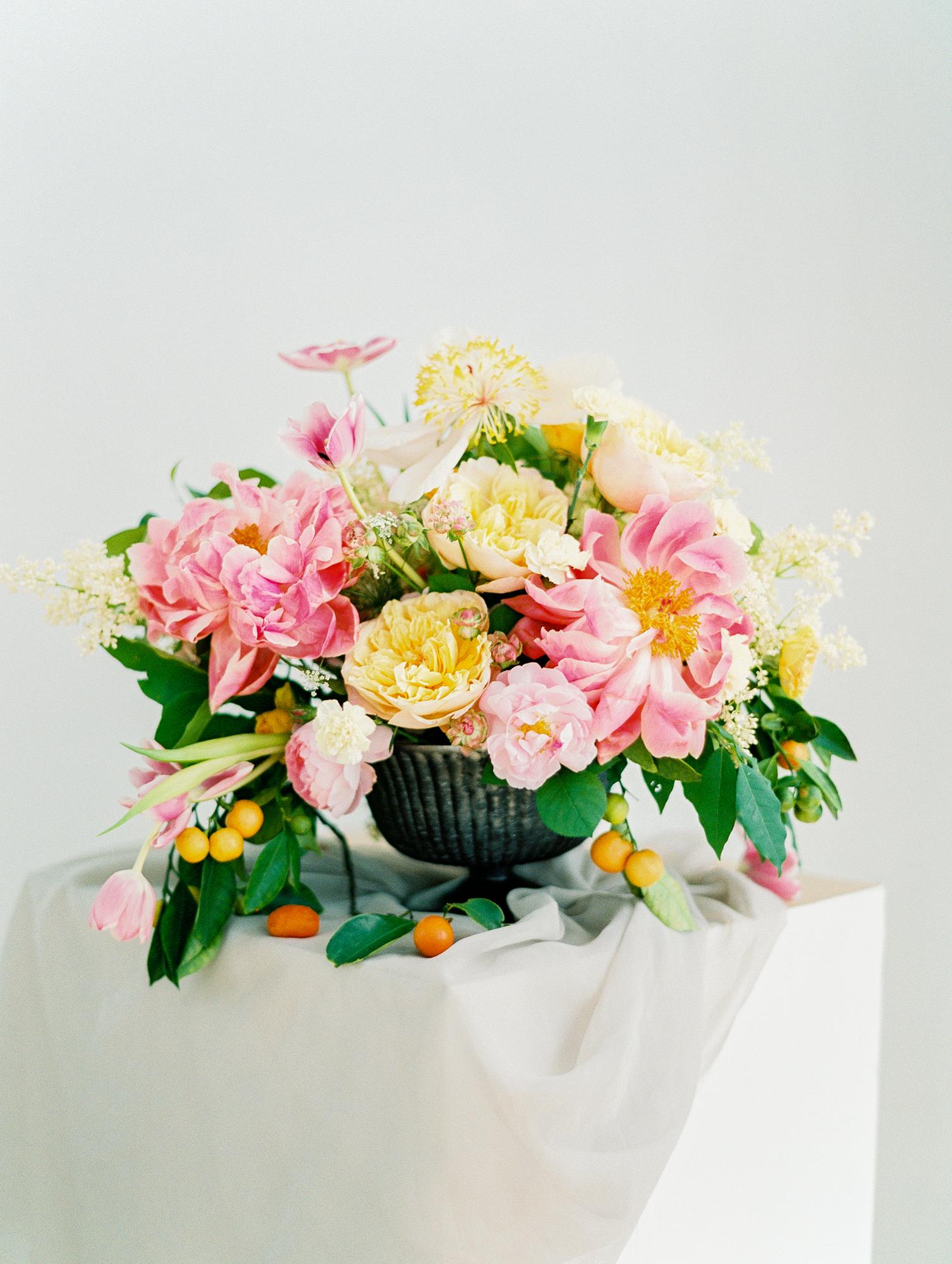manhattan new york studio wedding flowers film fine art photos