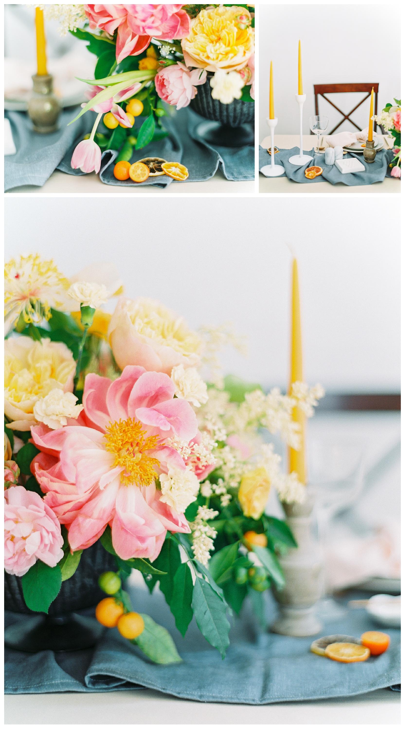 manhattan new york reception centerpiece flowers wedding film fine art photos