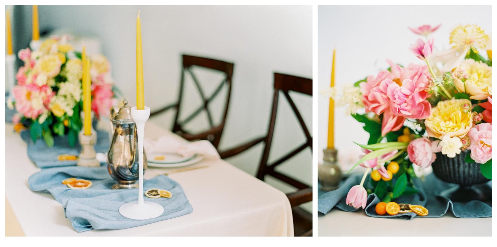 manhattan new york bridal wedding reception flowers film fine art photos