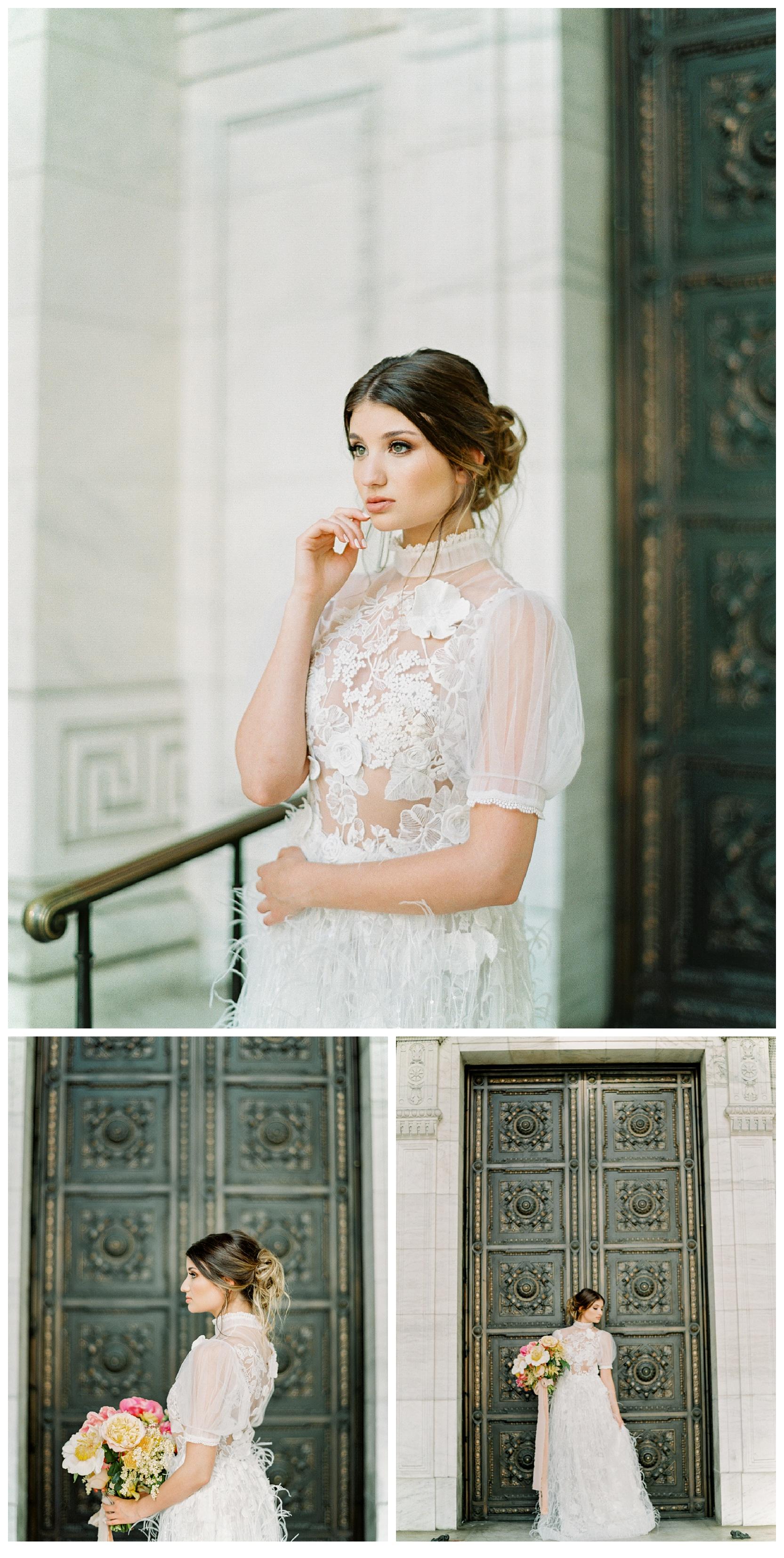manhattan new york public library bridal wedding film fine art photos