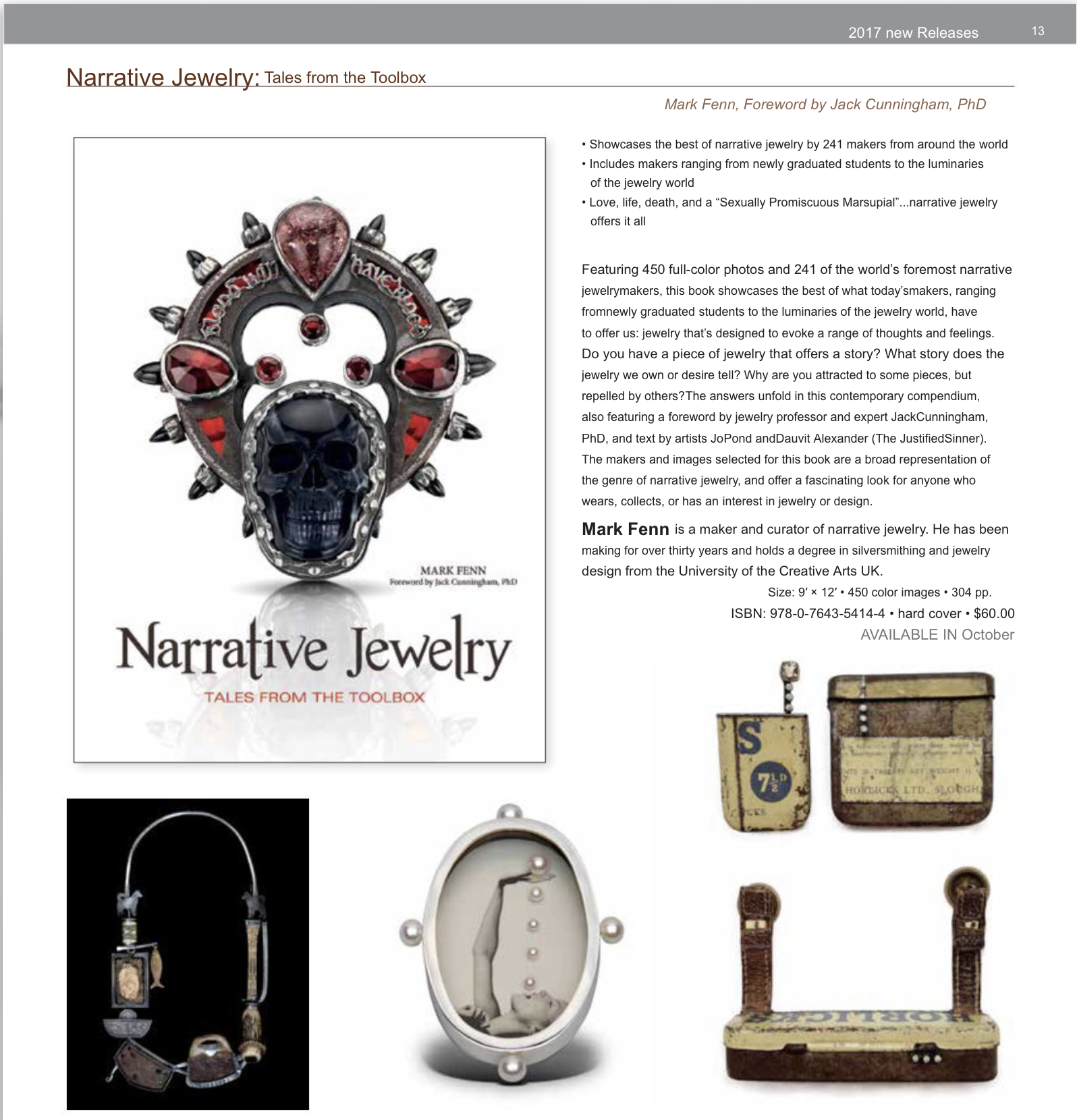 Narrative Jewelry Taster page