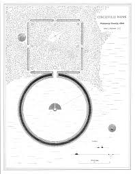 Hopewell Indian mound - Circleville was laid out inside the circular mound
