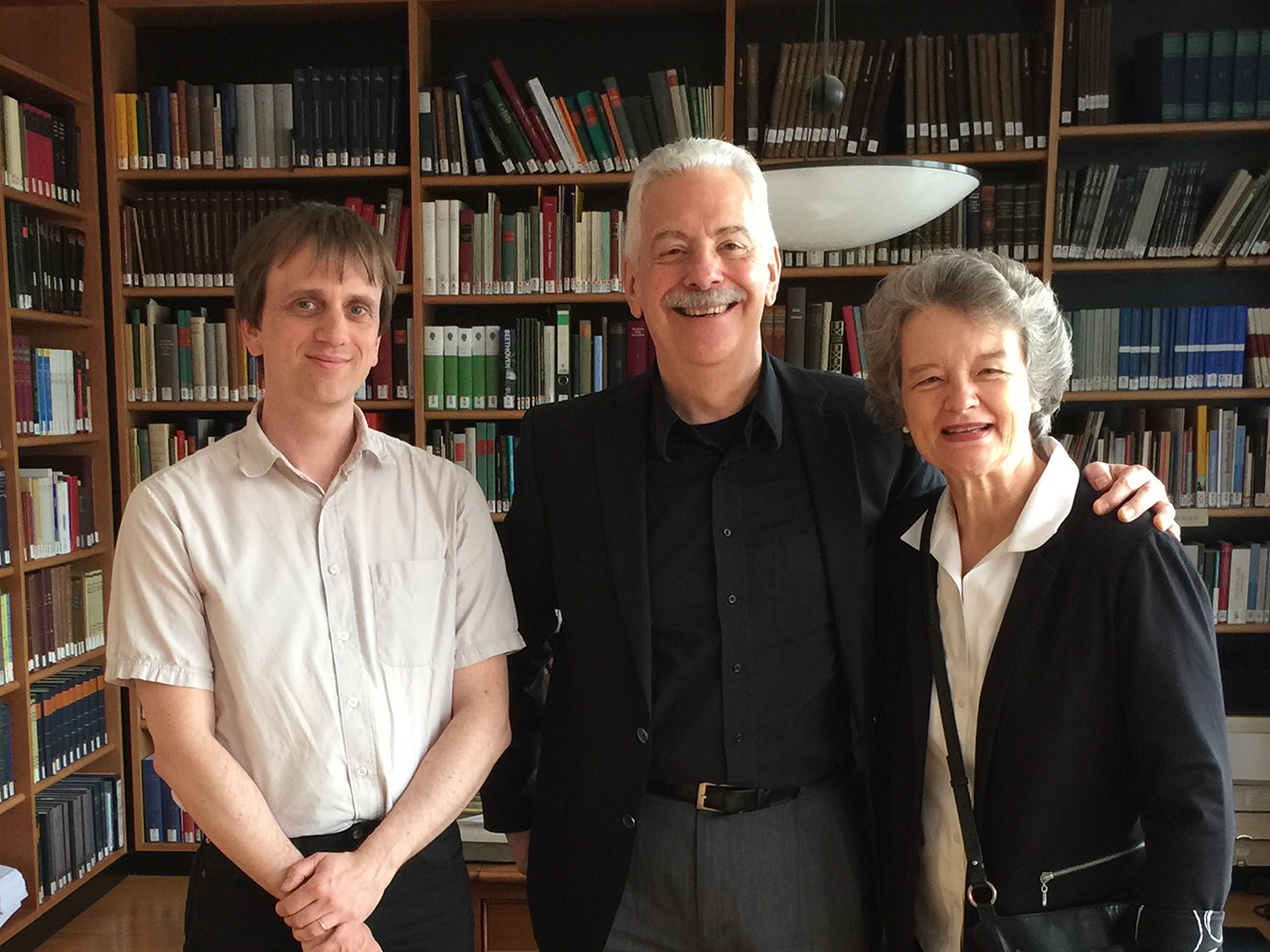 Fischer Duo with Jens Drufner, 2015    with Jens Drufner, chief editor of the Beethoven Sonatas for Henle Edition at the Beethoven Archiv at Beethovenhaus Bonn