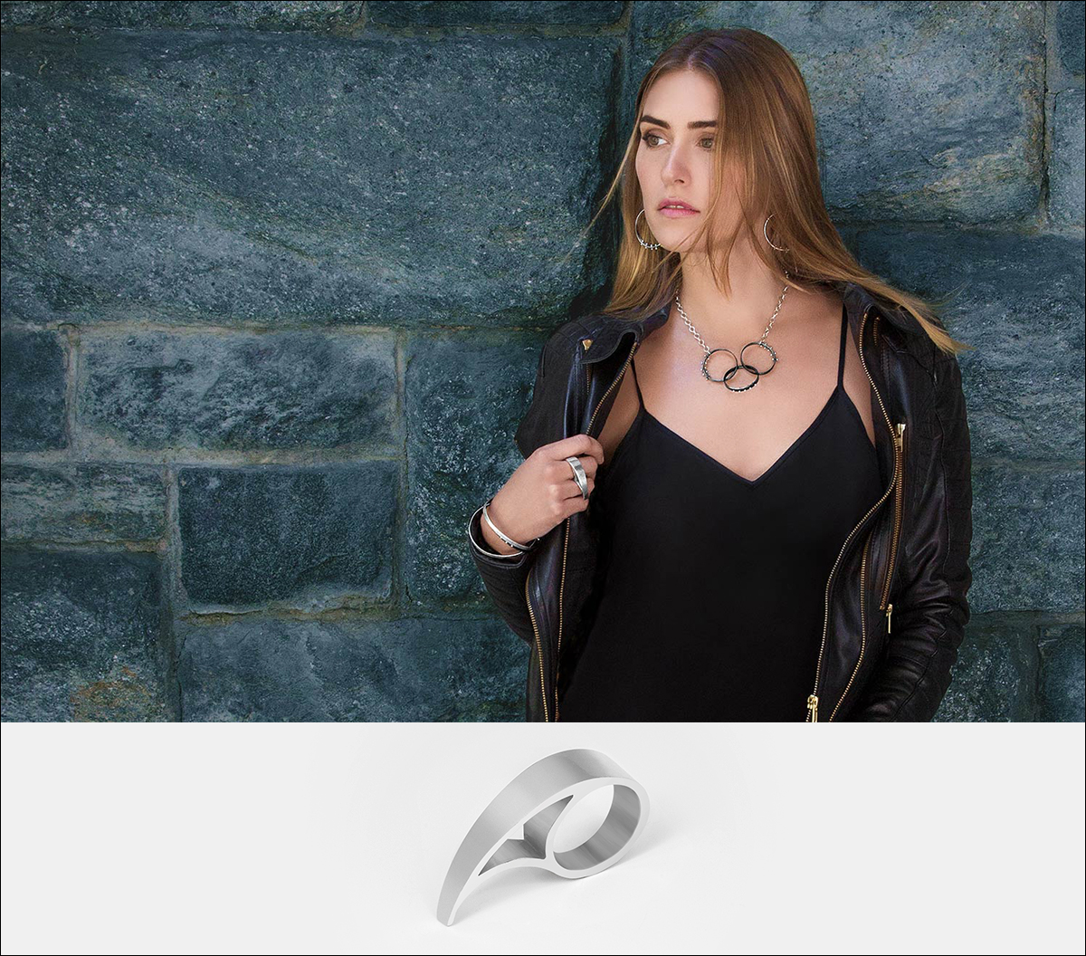 Tsunami Ring by Elke Van Dyke Design - Sterling Silver - www.ElkeVanDyke.com