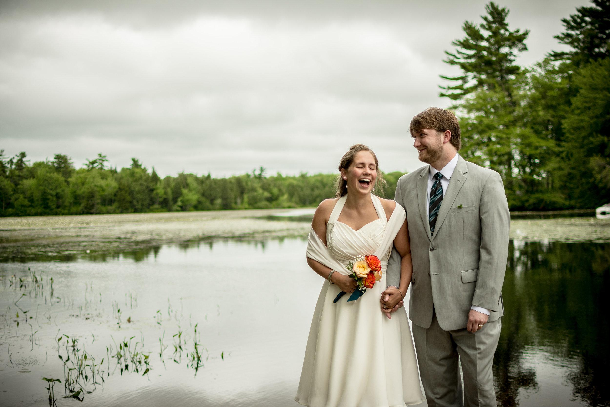 Ariele and Josh on their wedding day