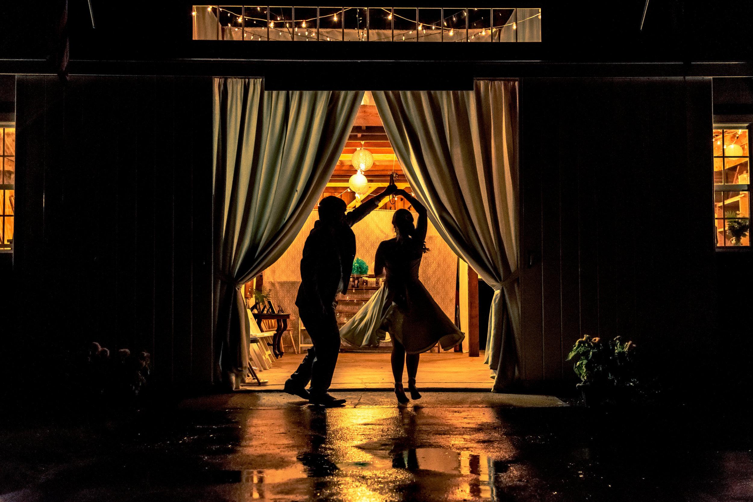 Ariele and Josh swing dancing