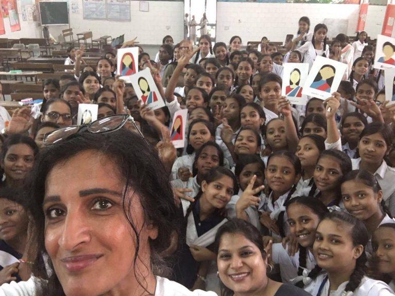 Manjit K Gill in a south Asian school